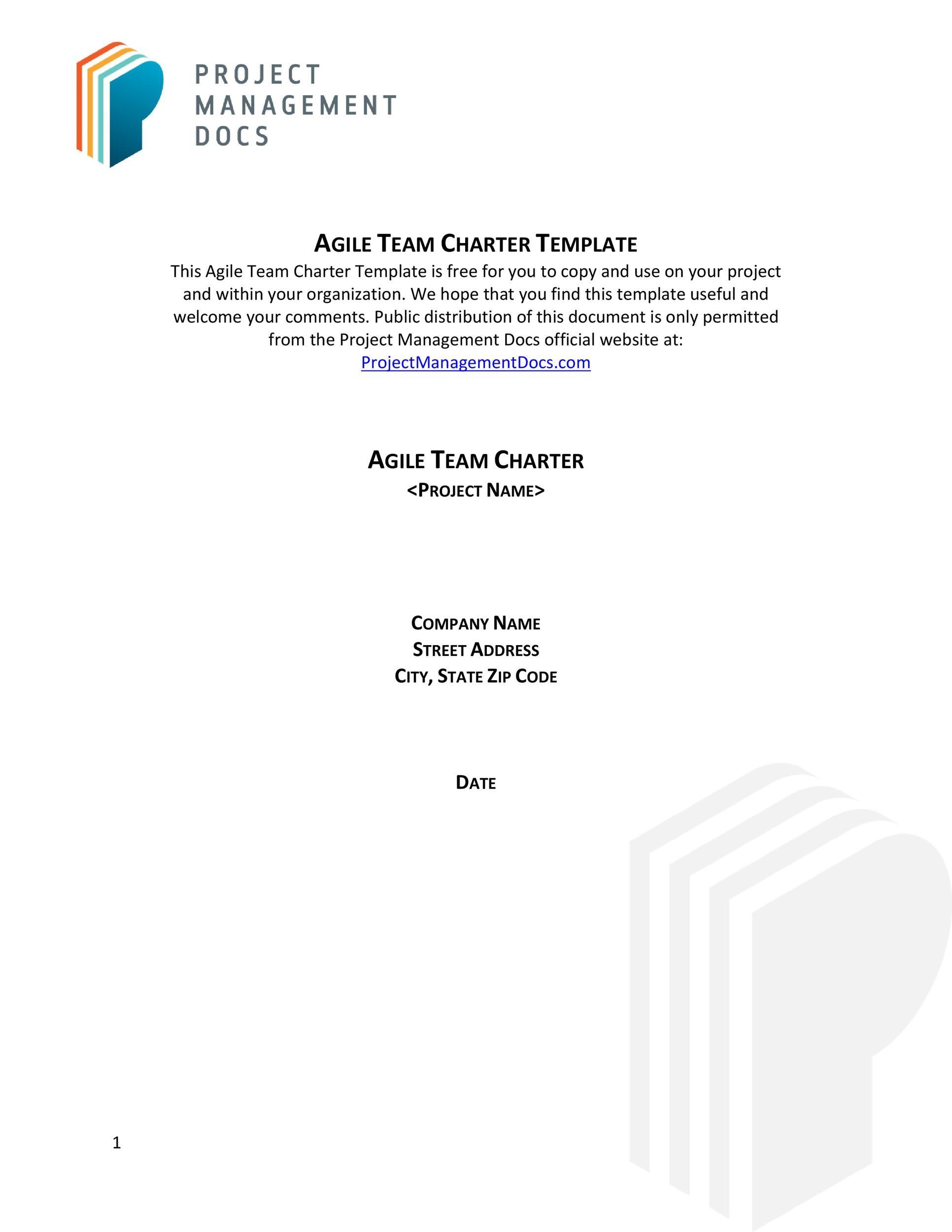 Free team charter template 04