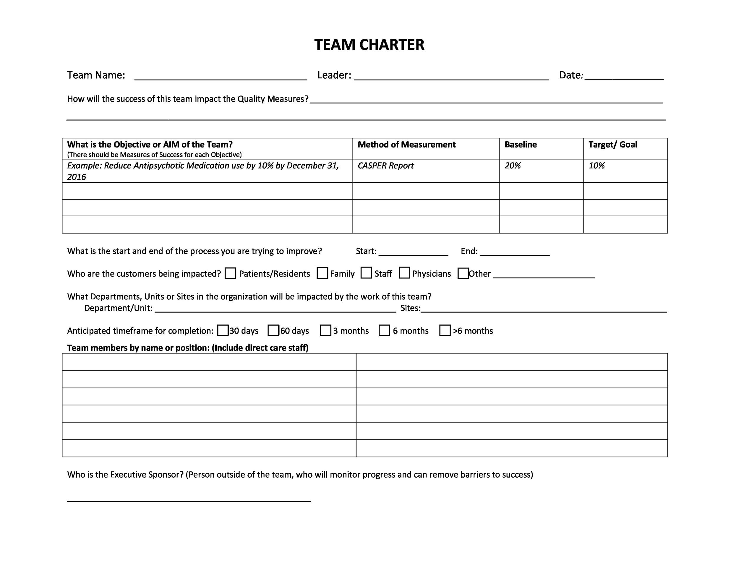 Free team charter template 14