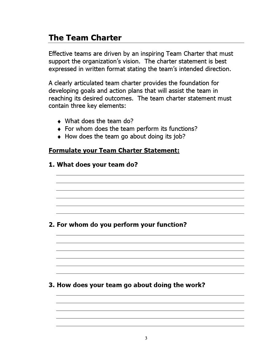 Free team charter template 18