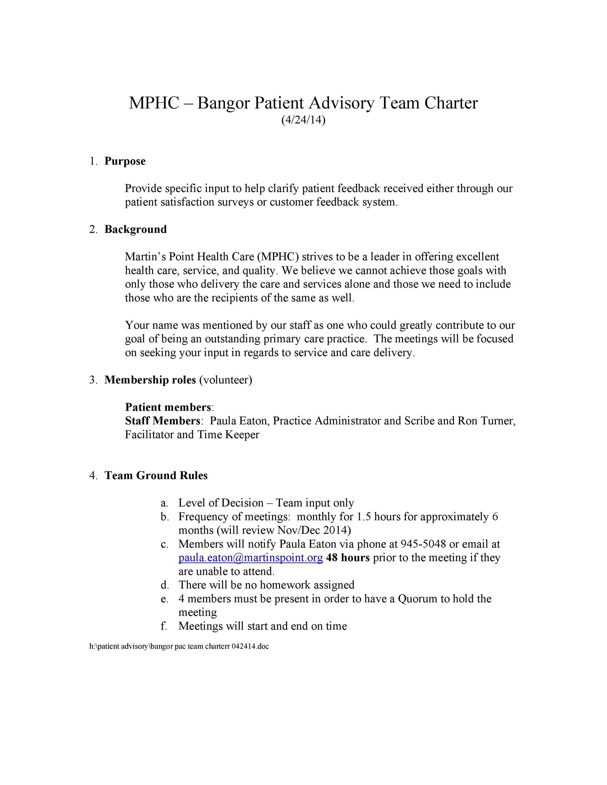 Free team charter template 20