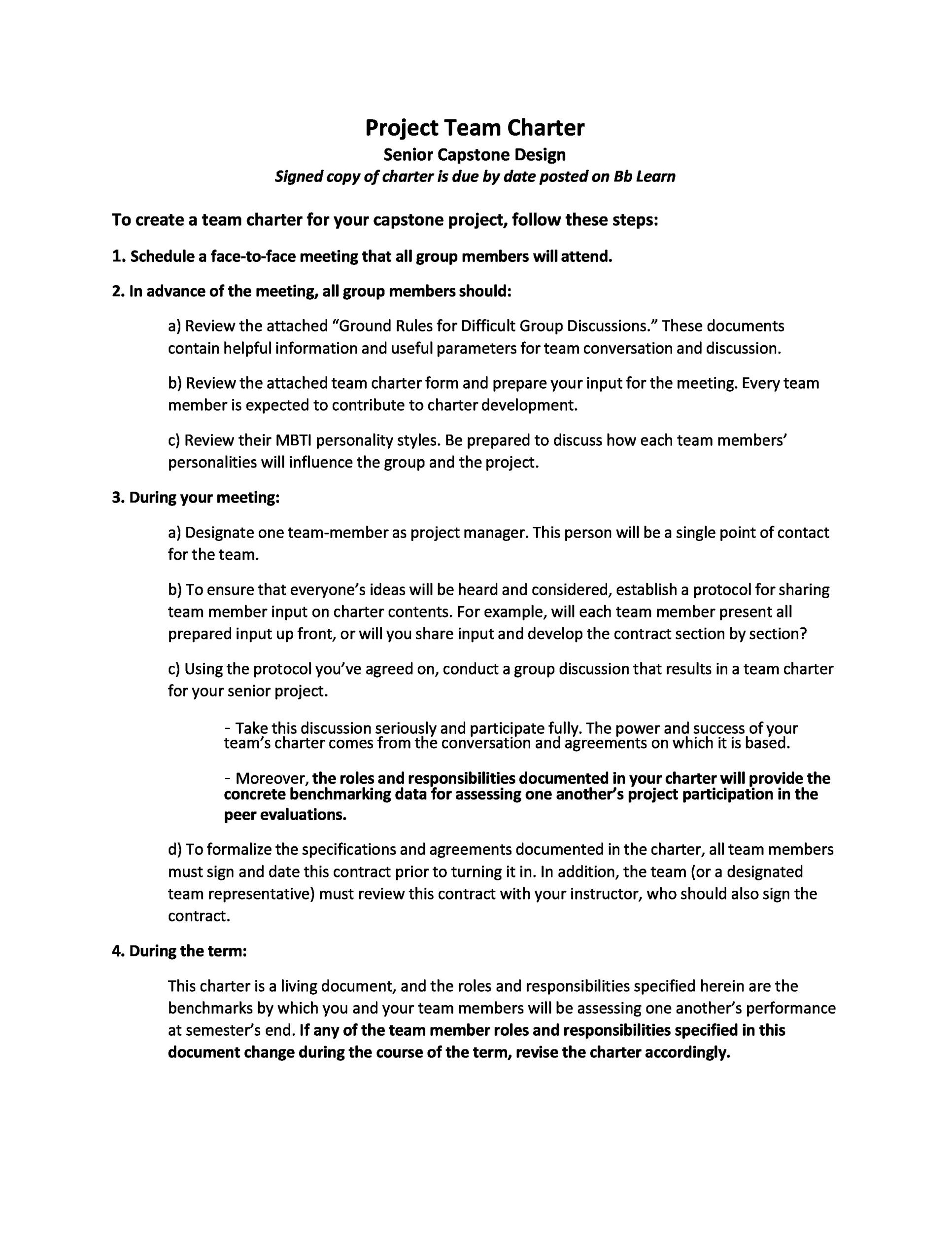 Free team charter template 32
