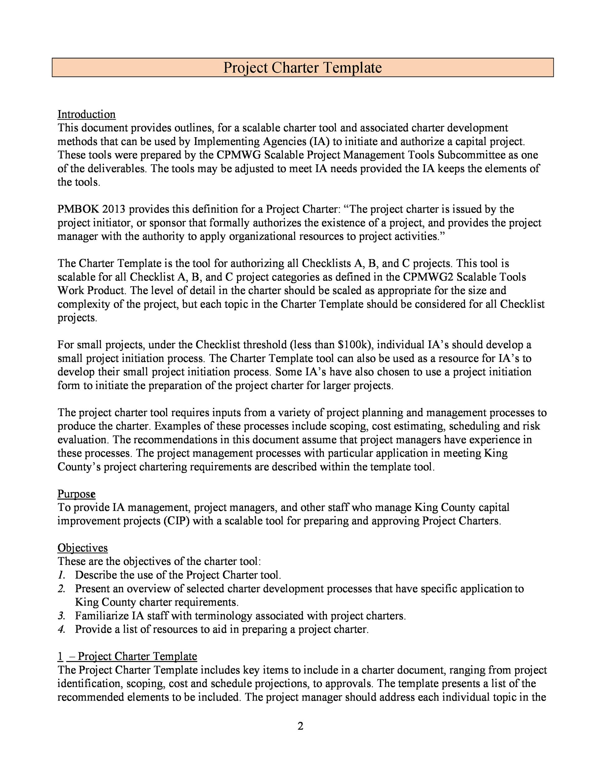 Free team charter template 42