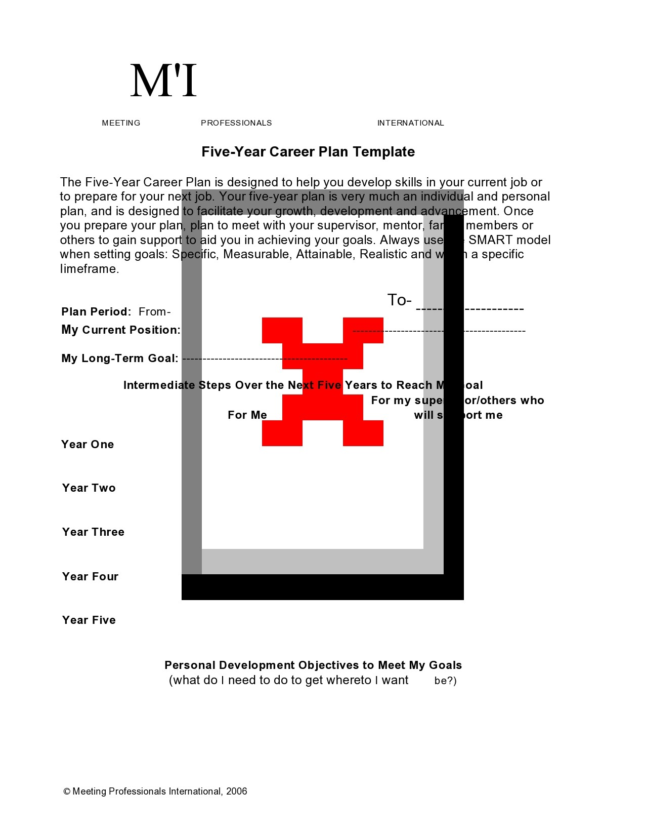 Free 5 year plan template 16