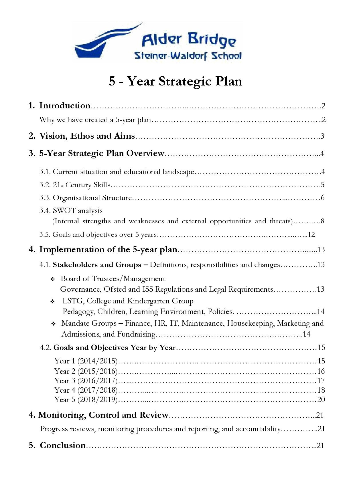 Free 5 year plan template 28