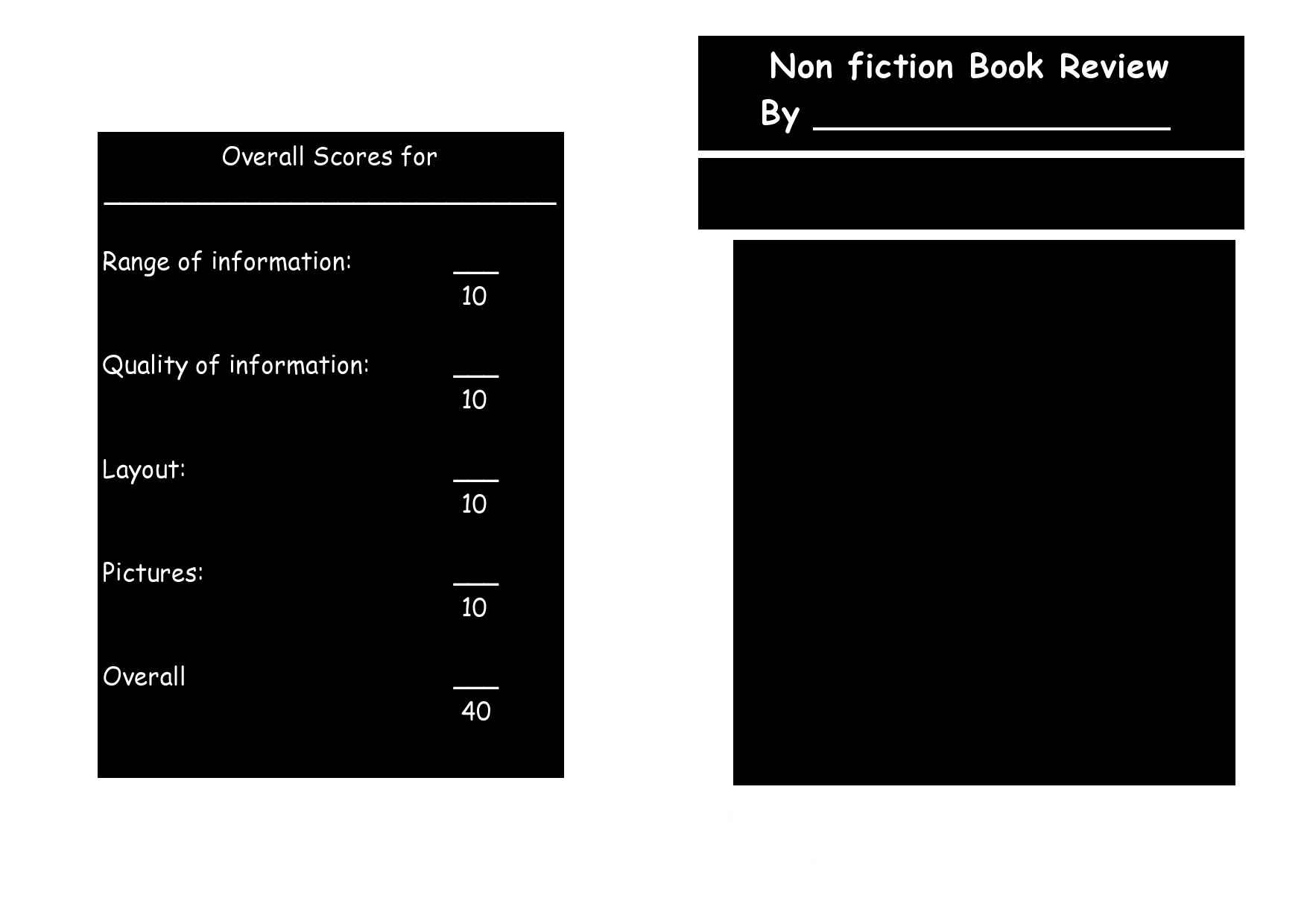 Free book review template 28
