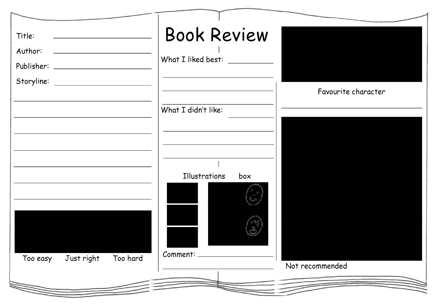 Free book review template 30