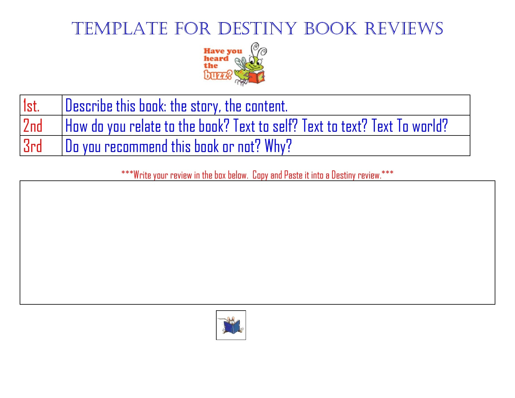 Free book review template 31