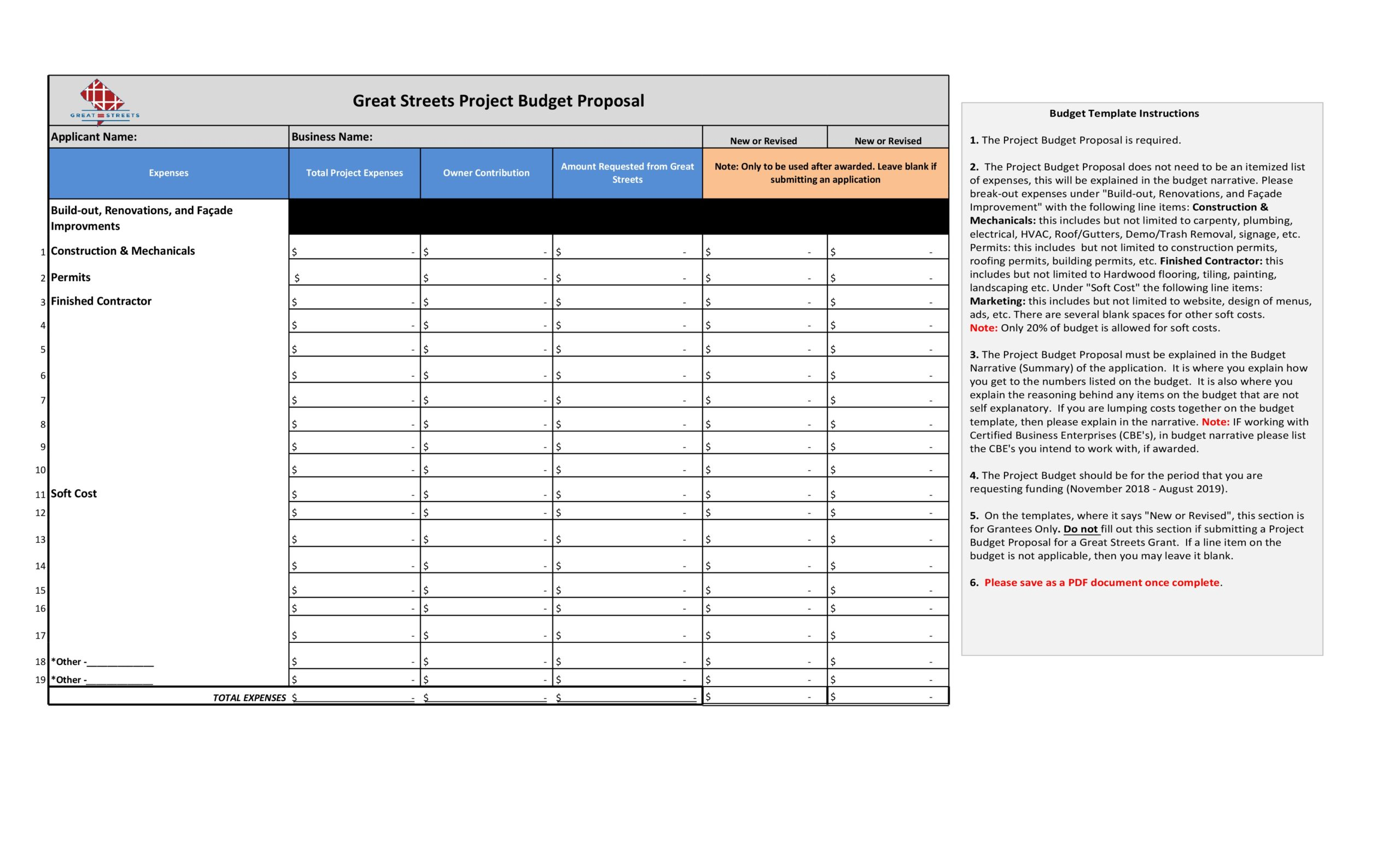 Free budget proposal template 07