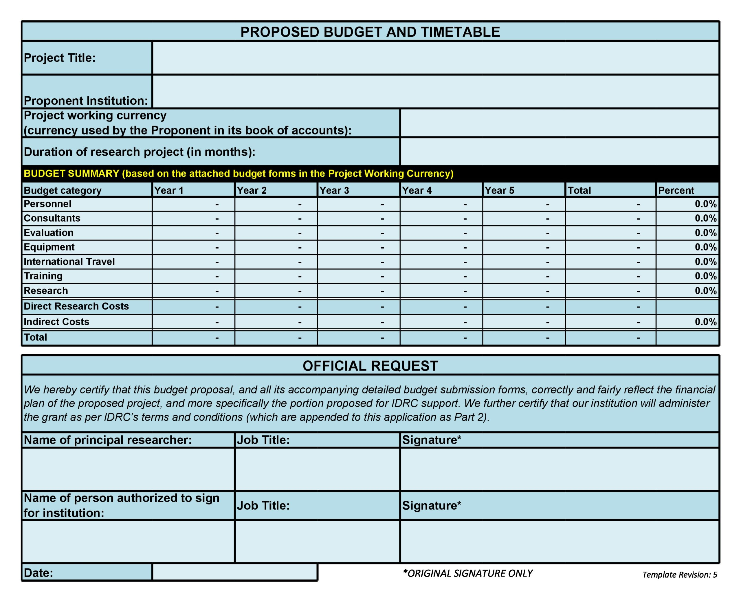 Free budget proposal template 09