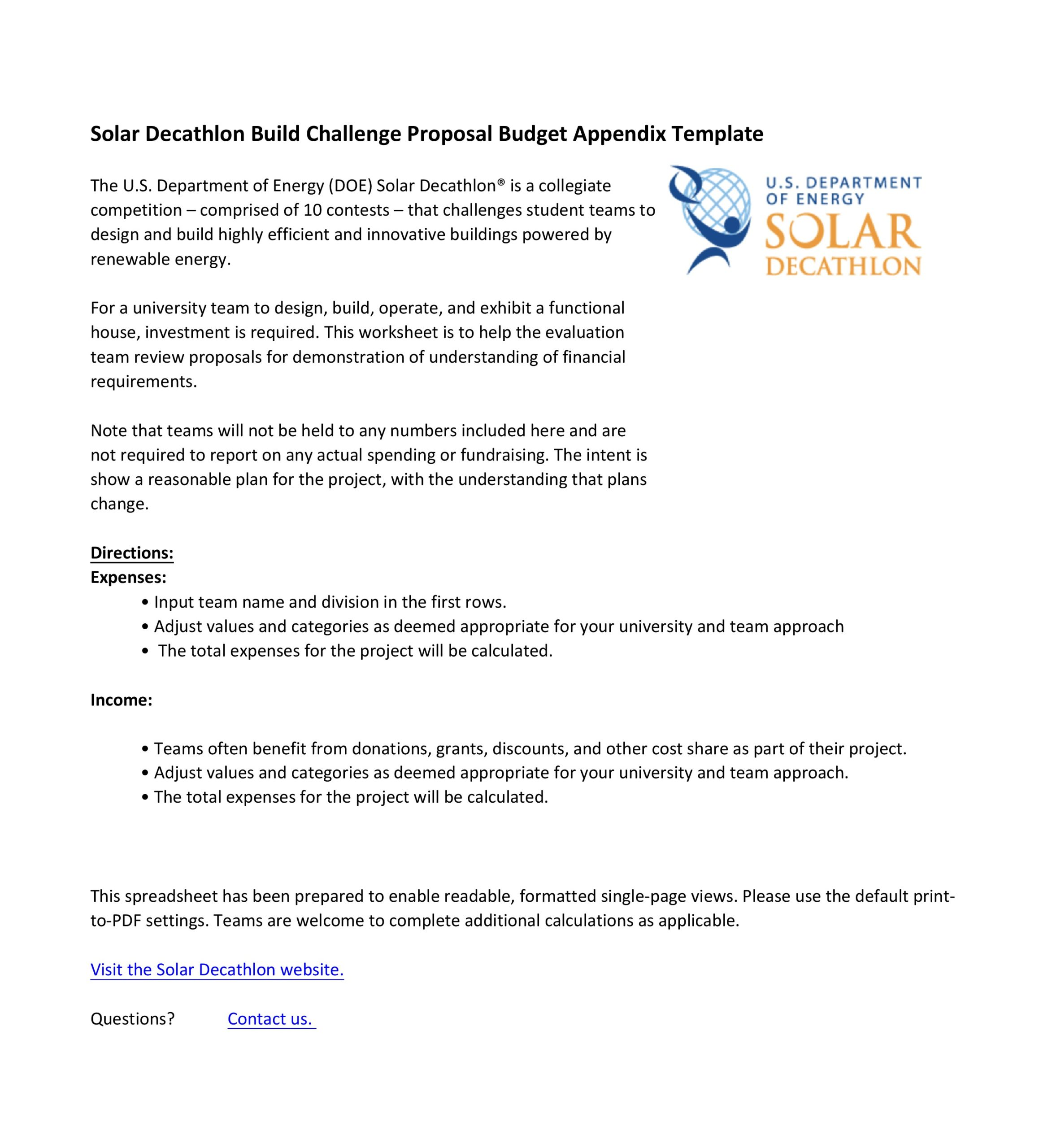 Free budget proposal template 11
