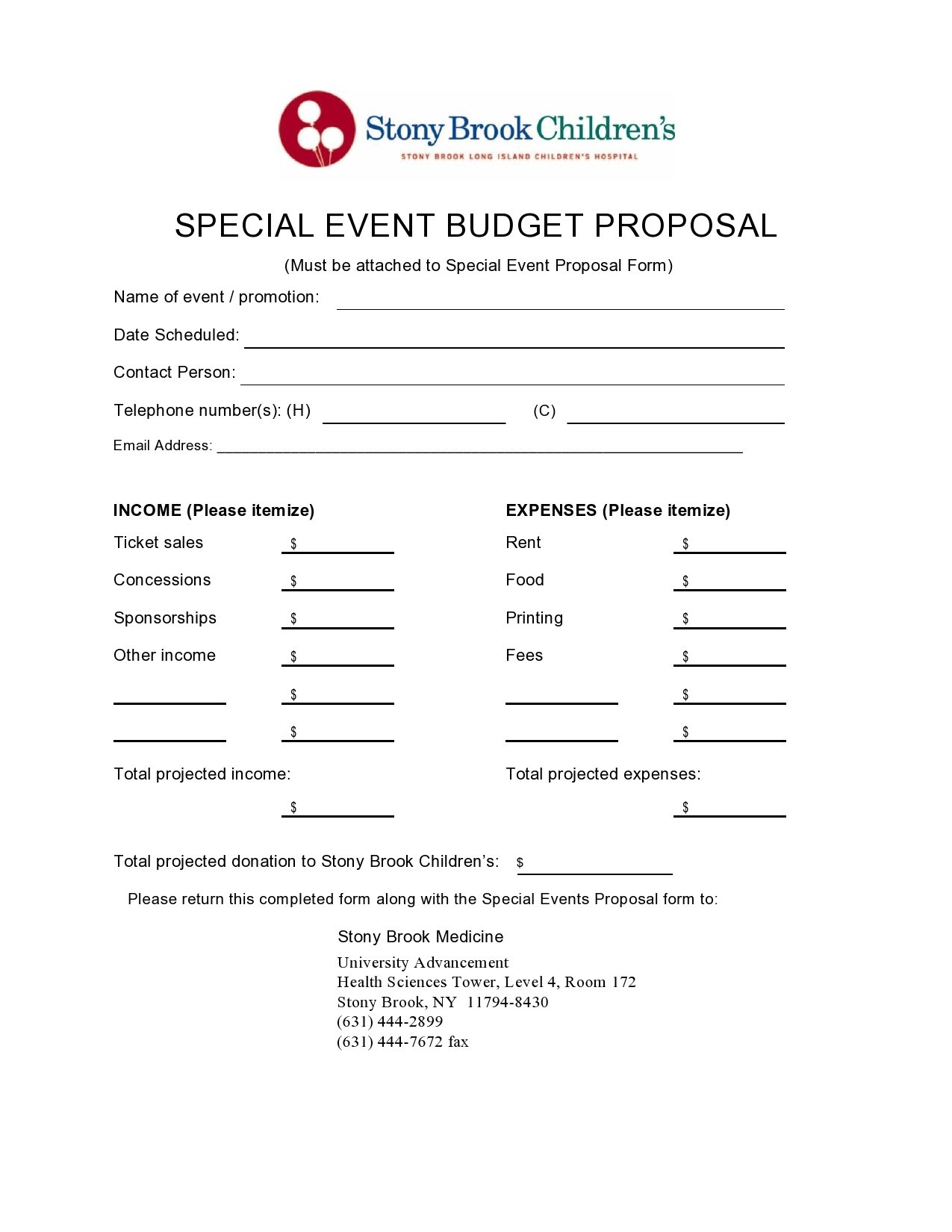 Free budget proposal template 16