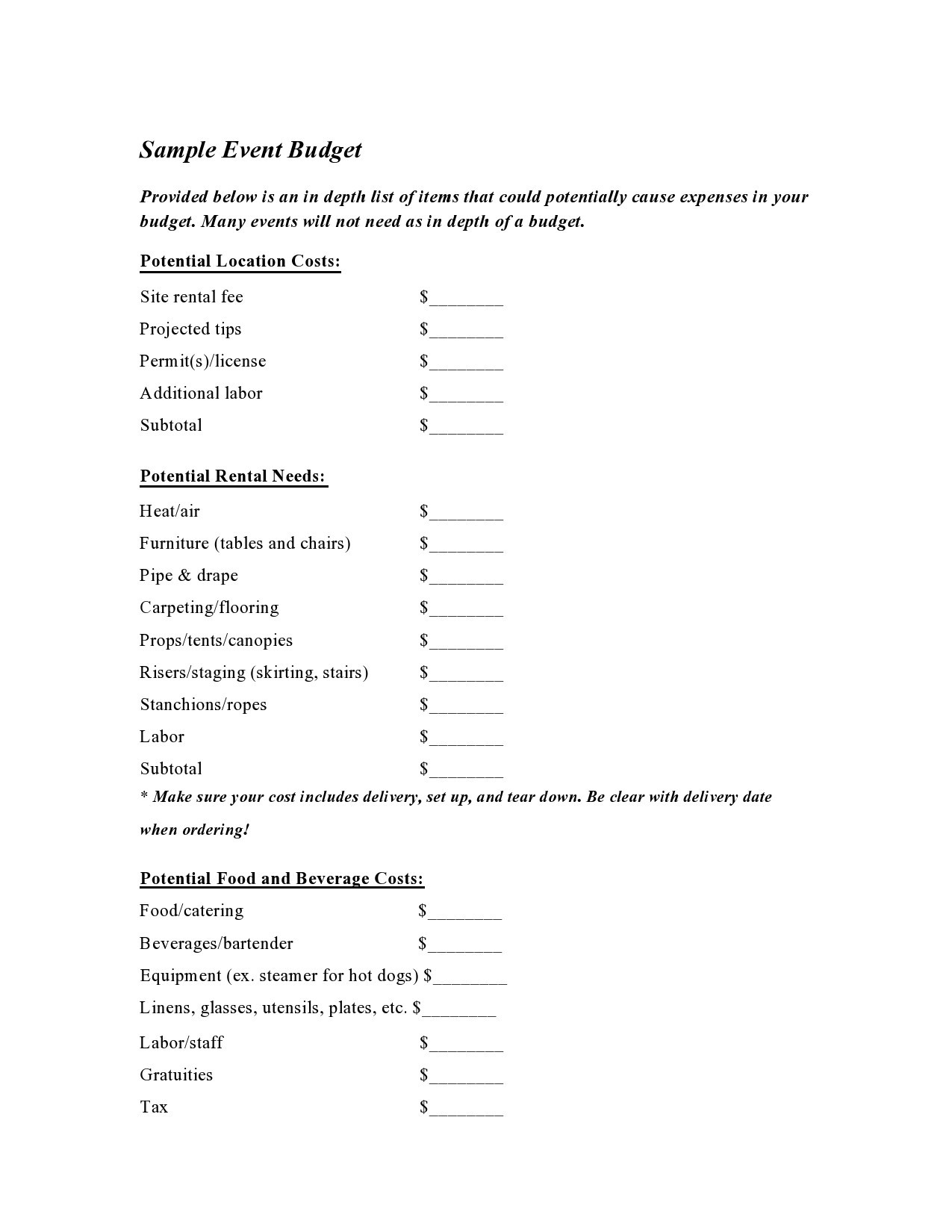 Free budget proposal template 19