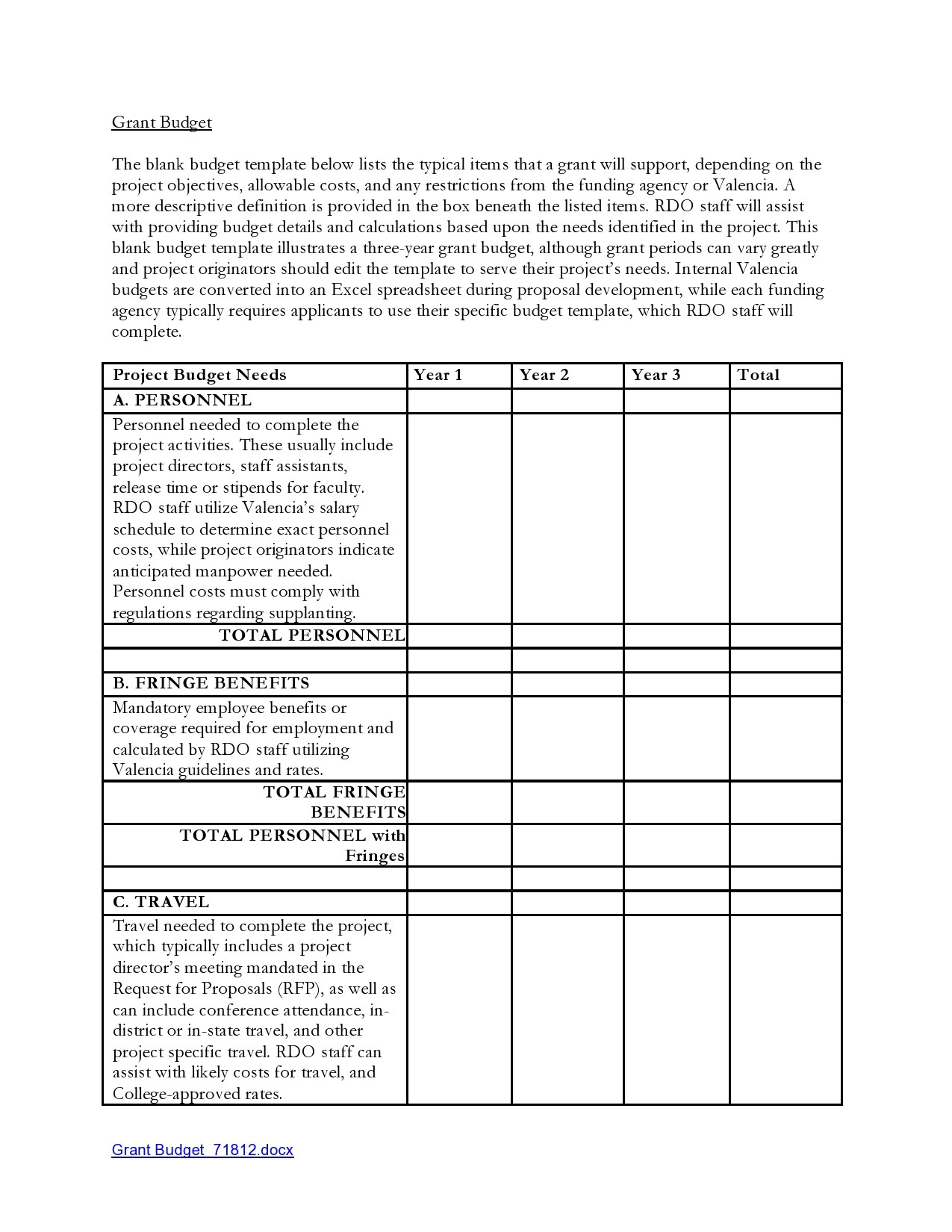Free budget proposal template 21