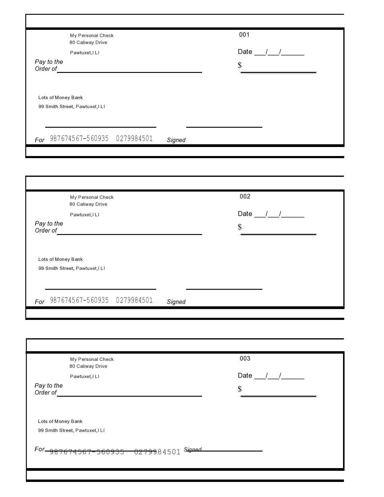 Fake Check Template Free from templatelab.com