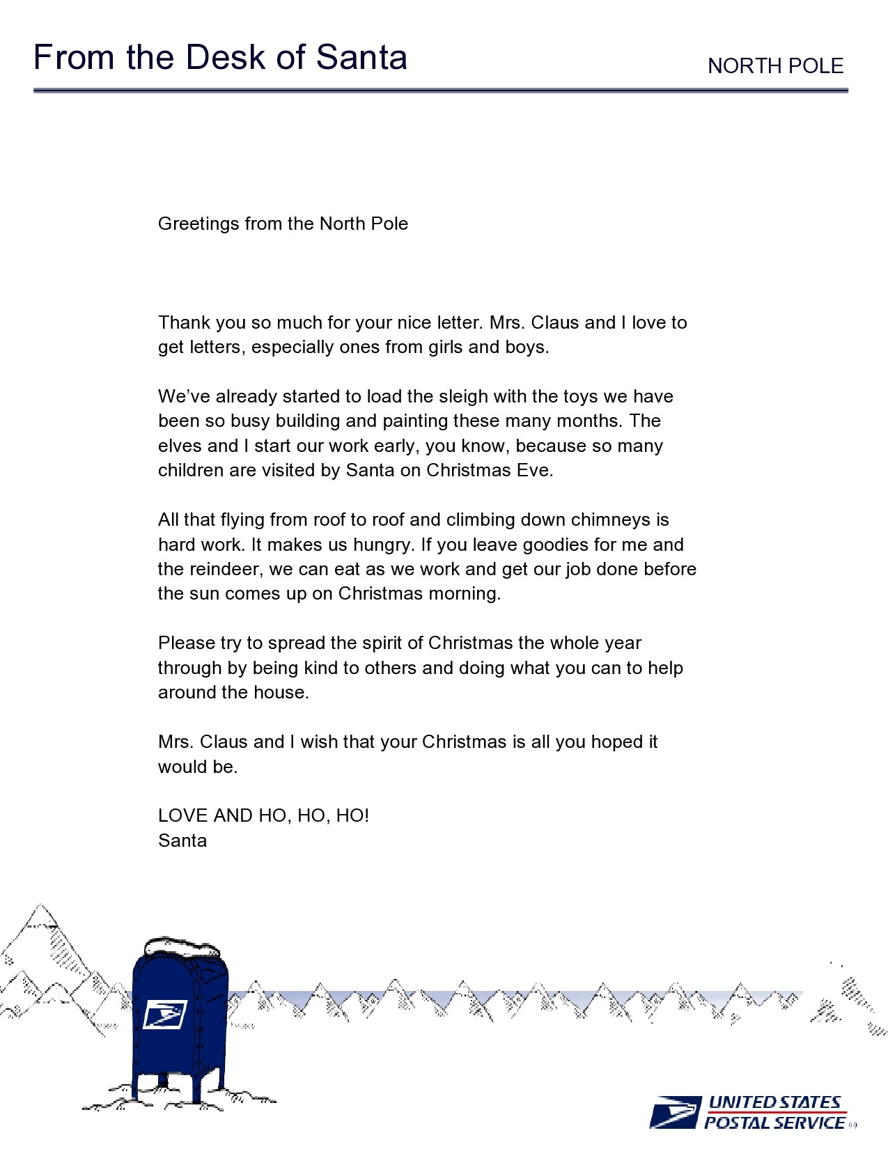 Free christmas letter template 03