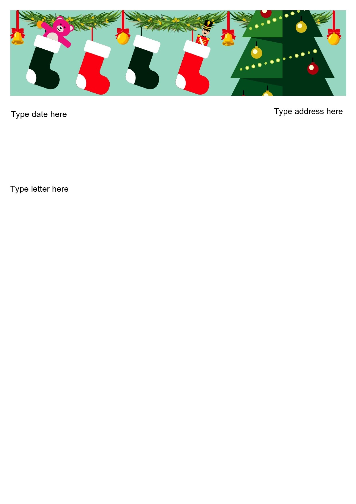 Free christmas letter template 06