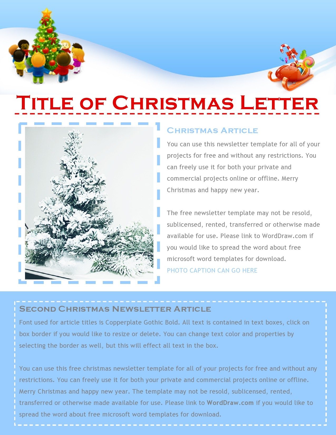 Free christmas letter template 10