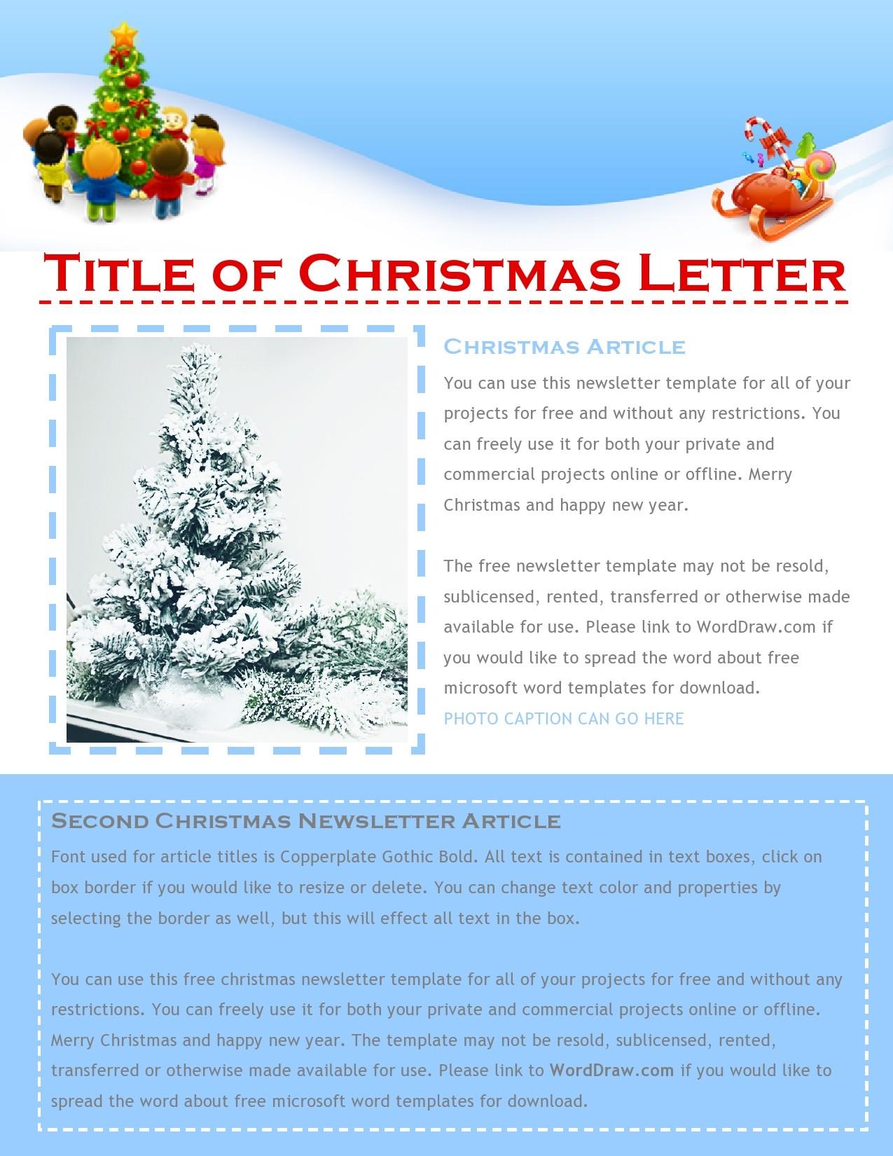 45 Printable Christmas Letter Templates FREE