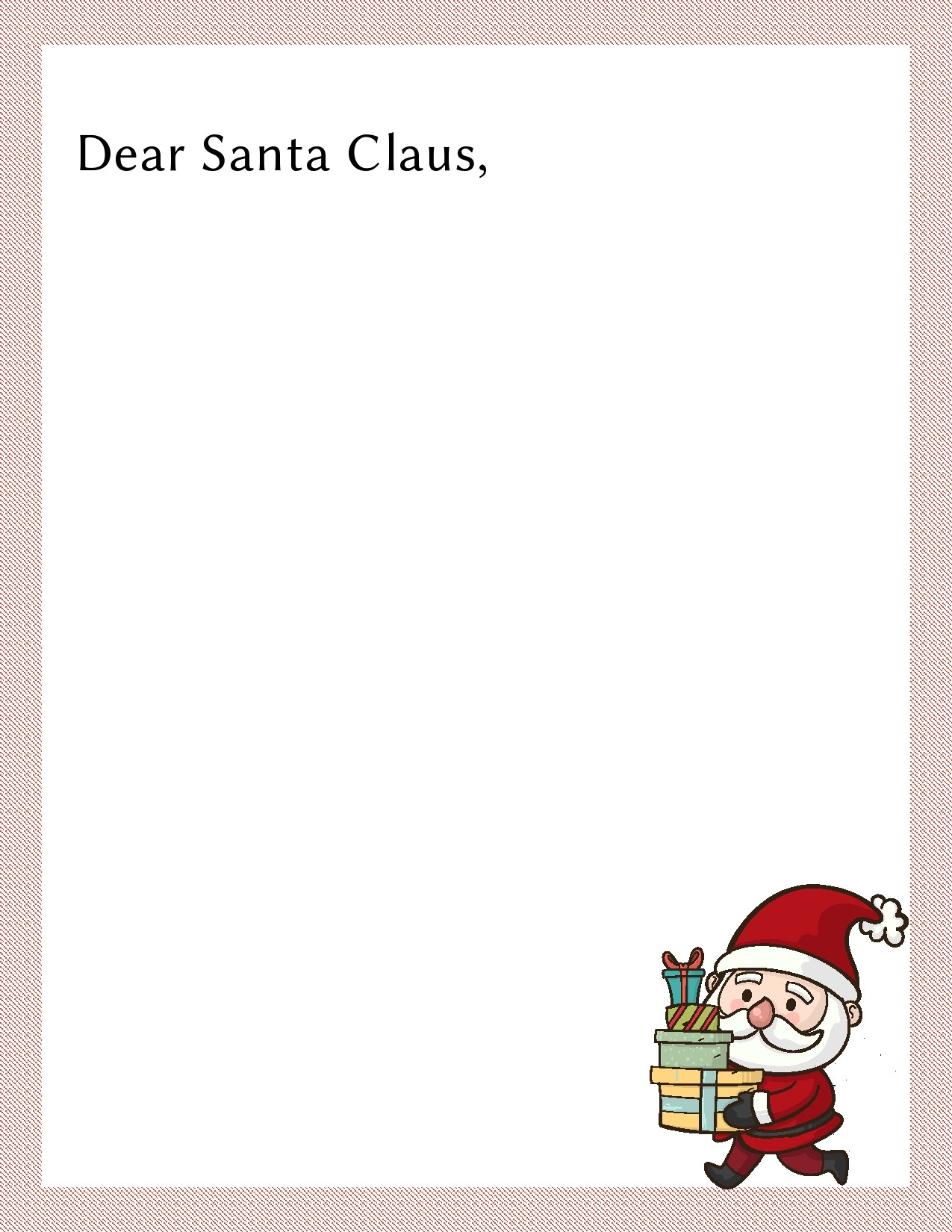 Free christmas letter template 11