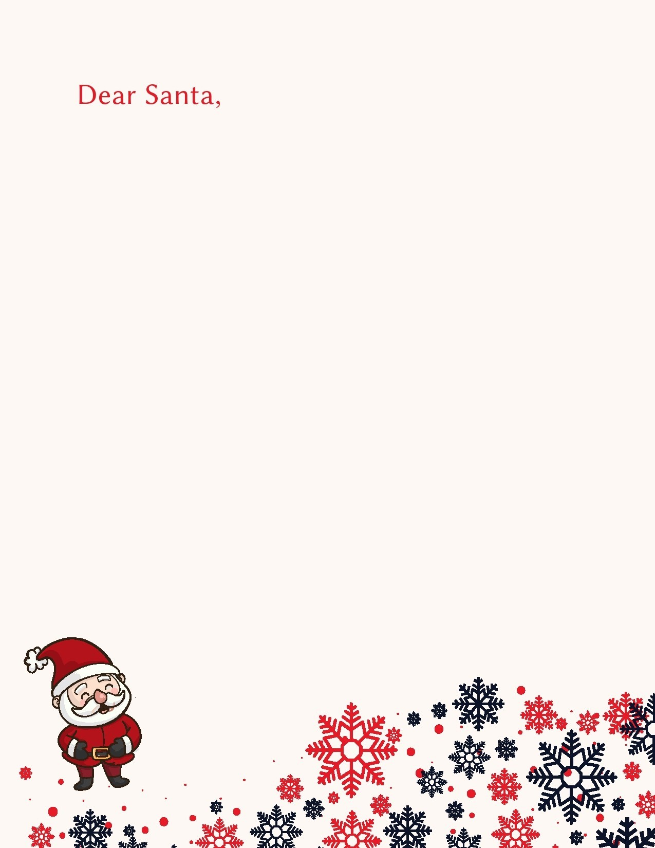 Free christmas letter template 12