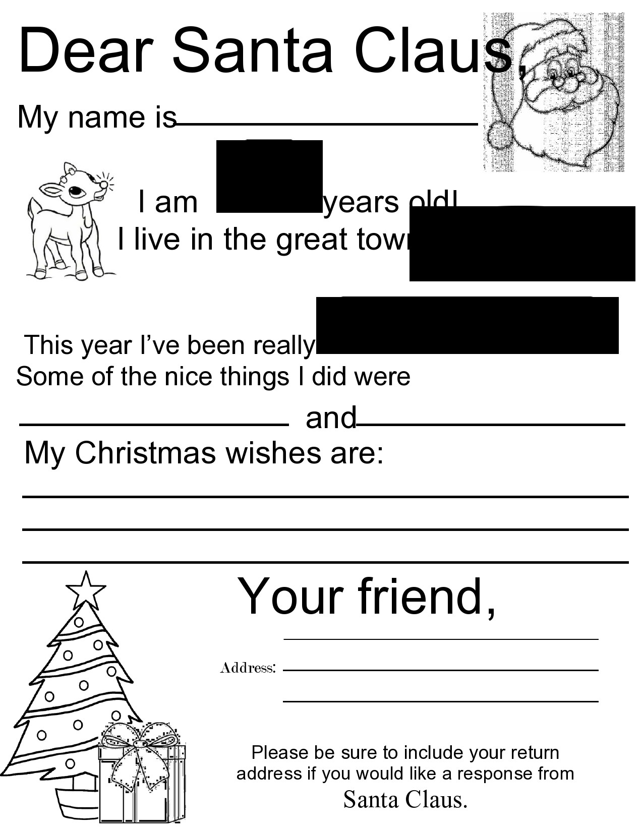 Free christmas letter template 16