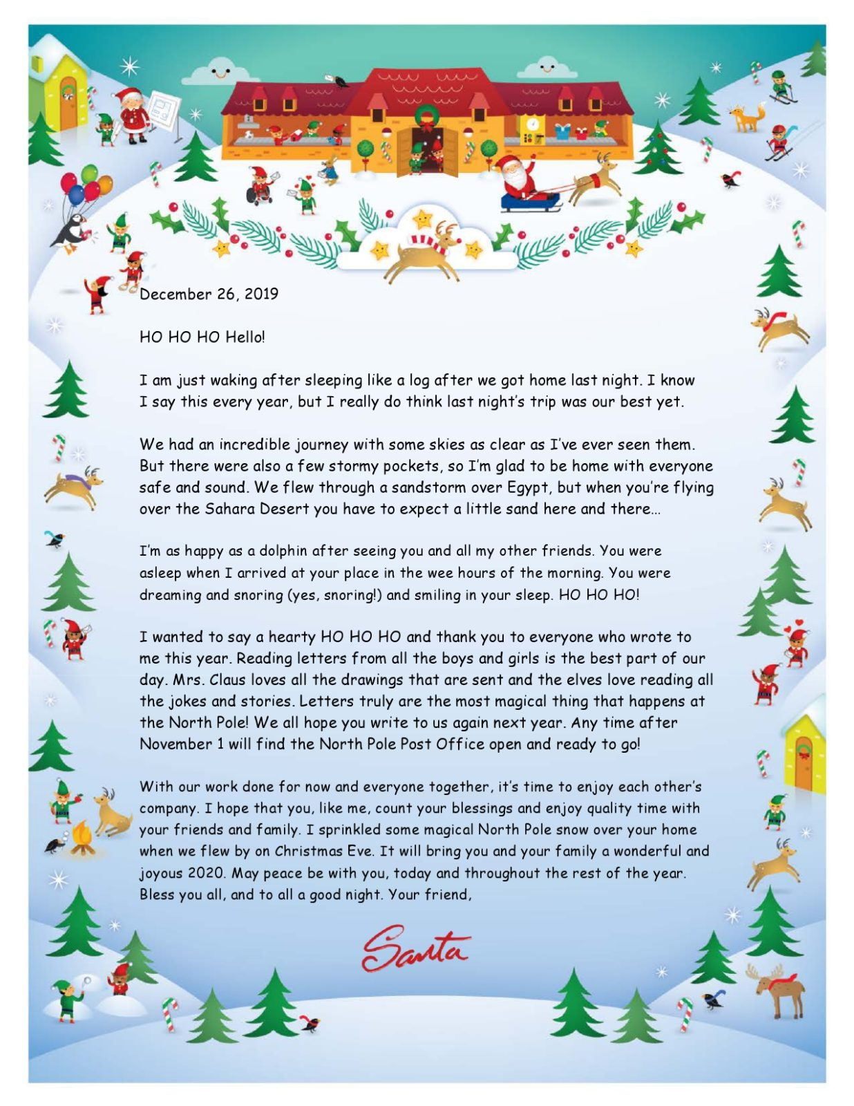 Free christmas letter template 19