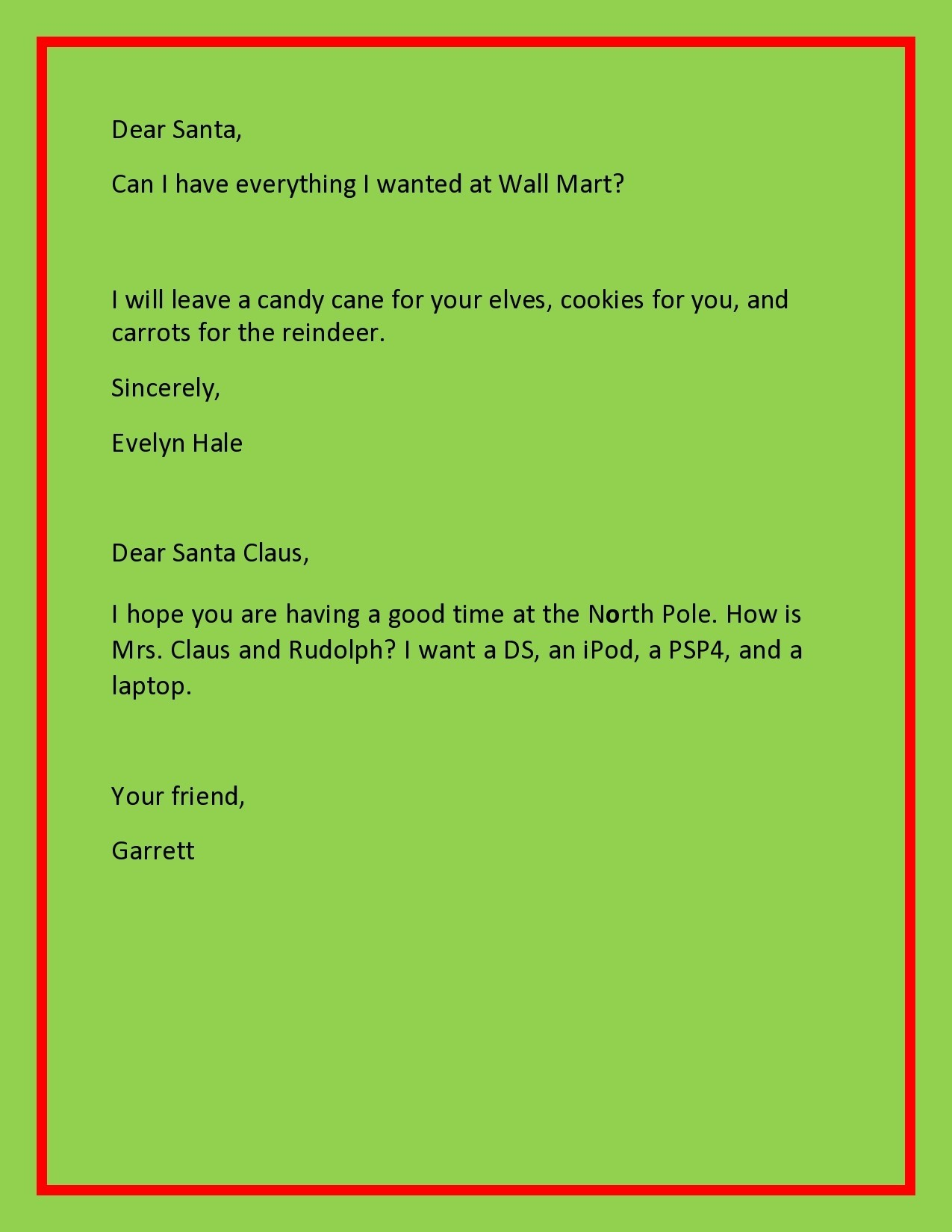 Free christmas letter template 20