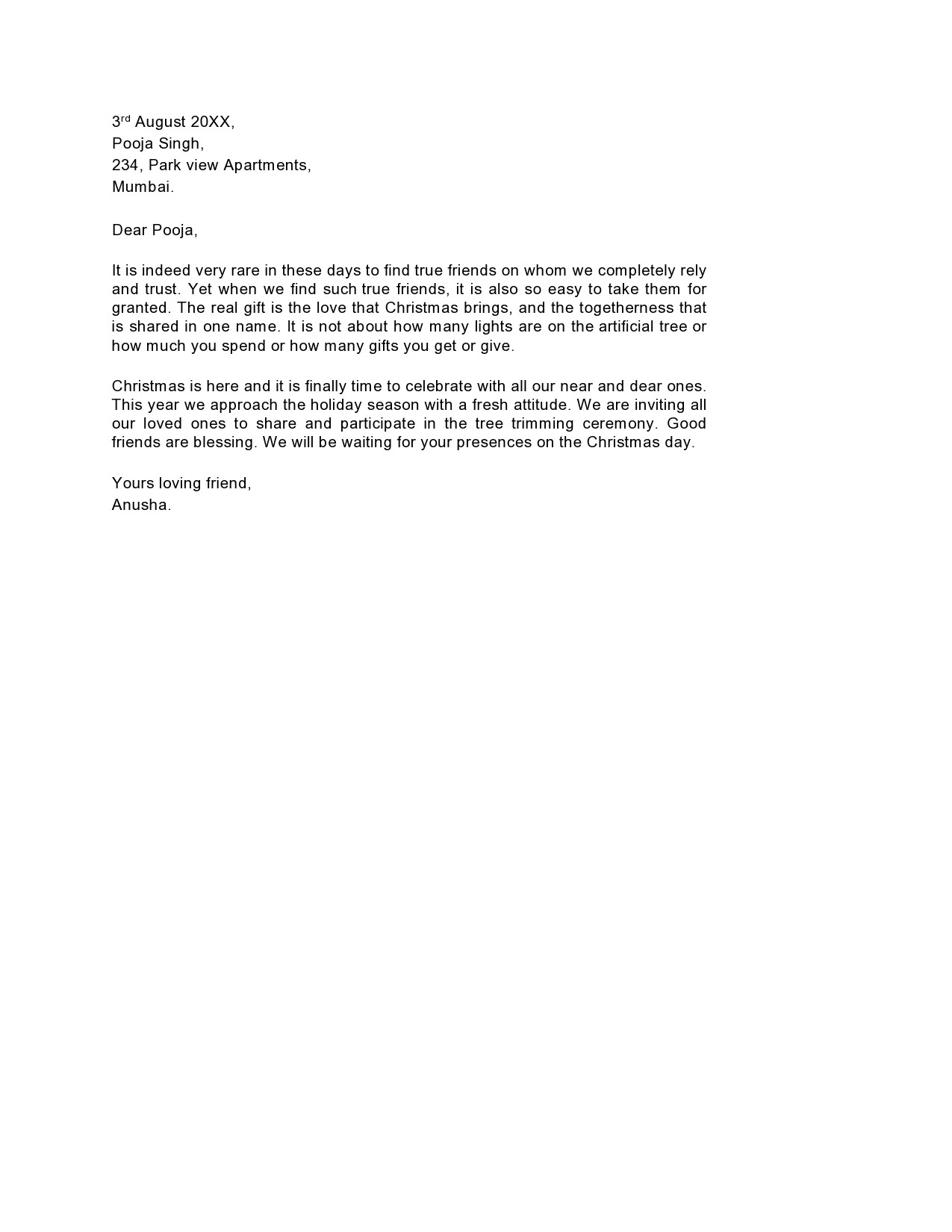 Free christmas letter template 26