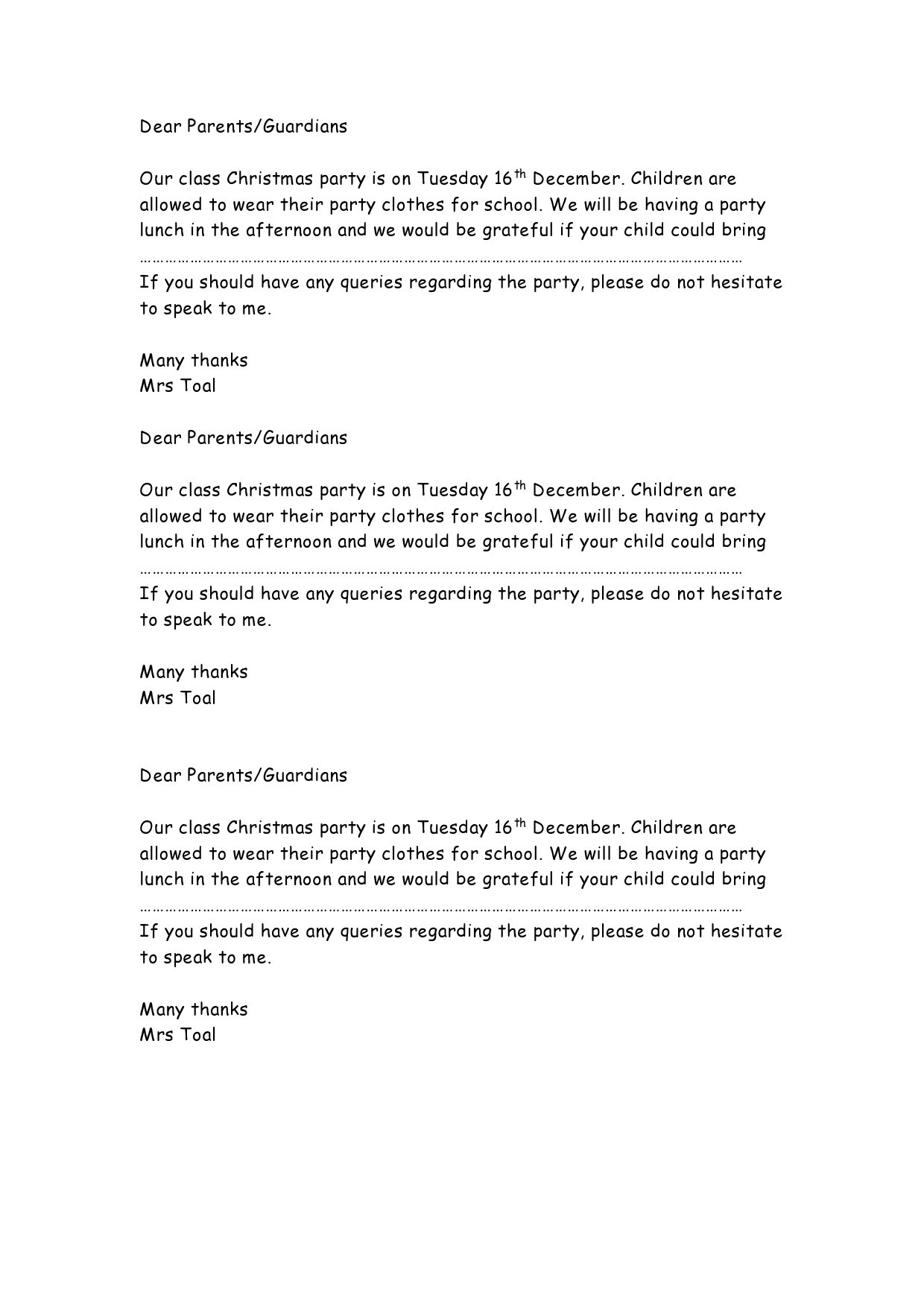 Free christmas letter template 34