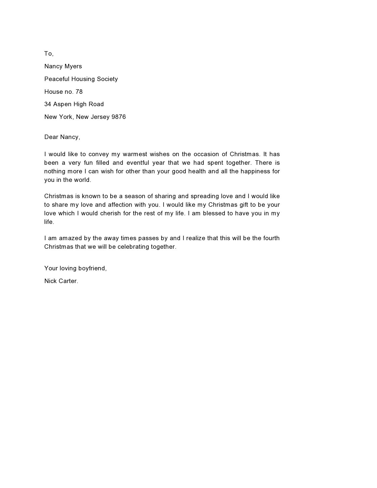 Free christmas letter template 36