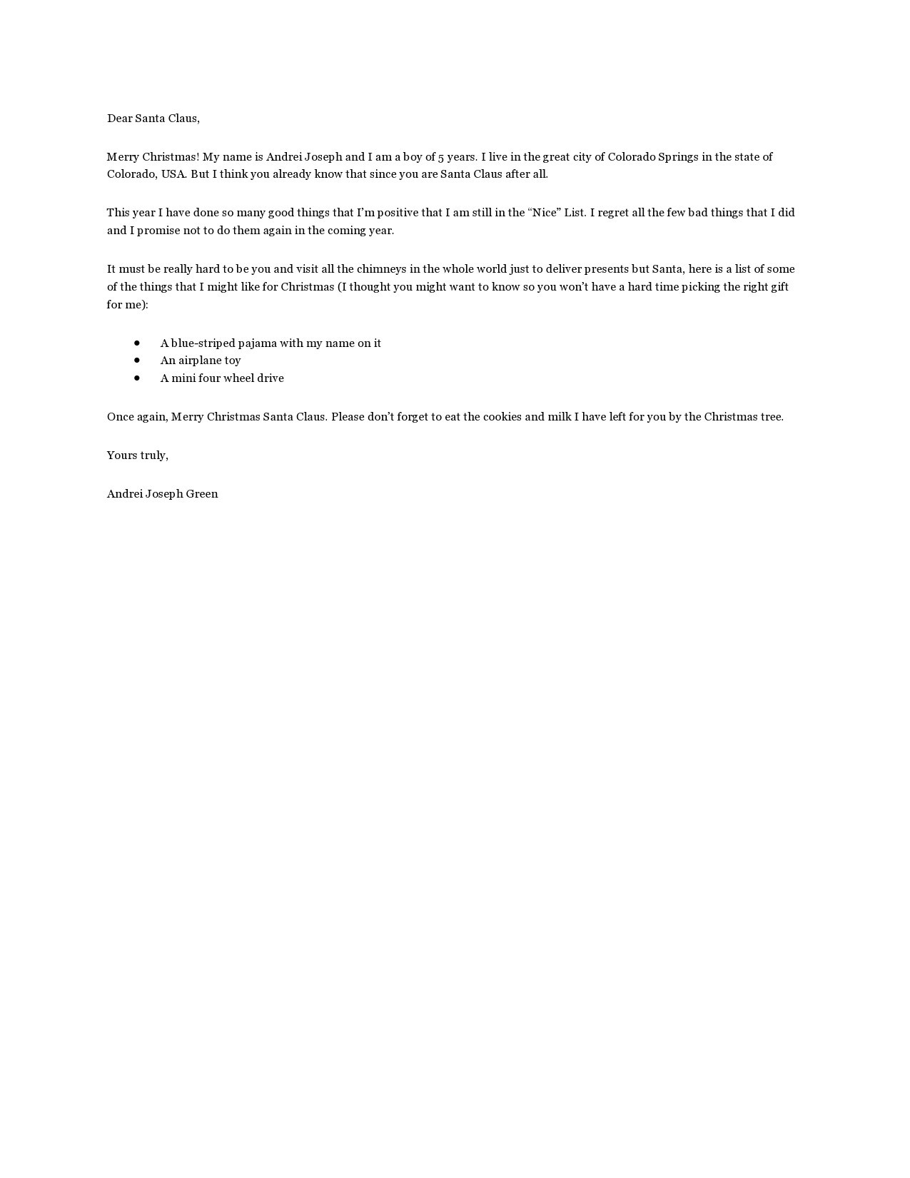Free christmas letter template 37