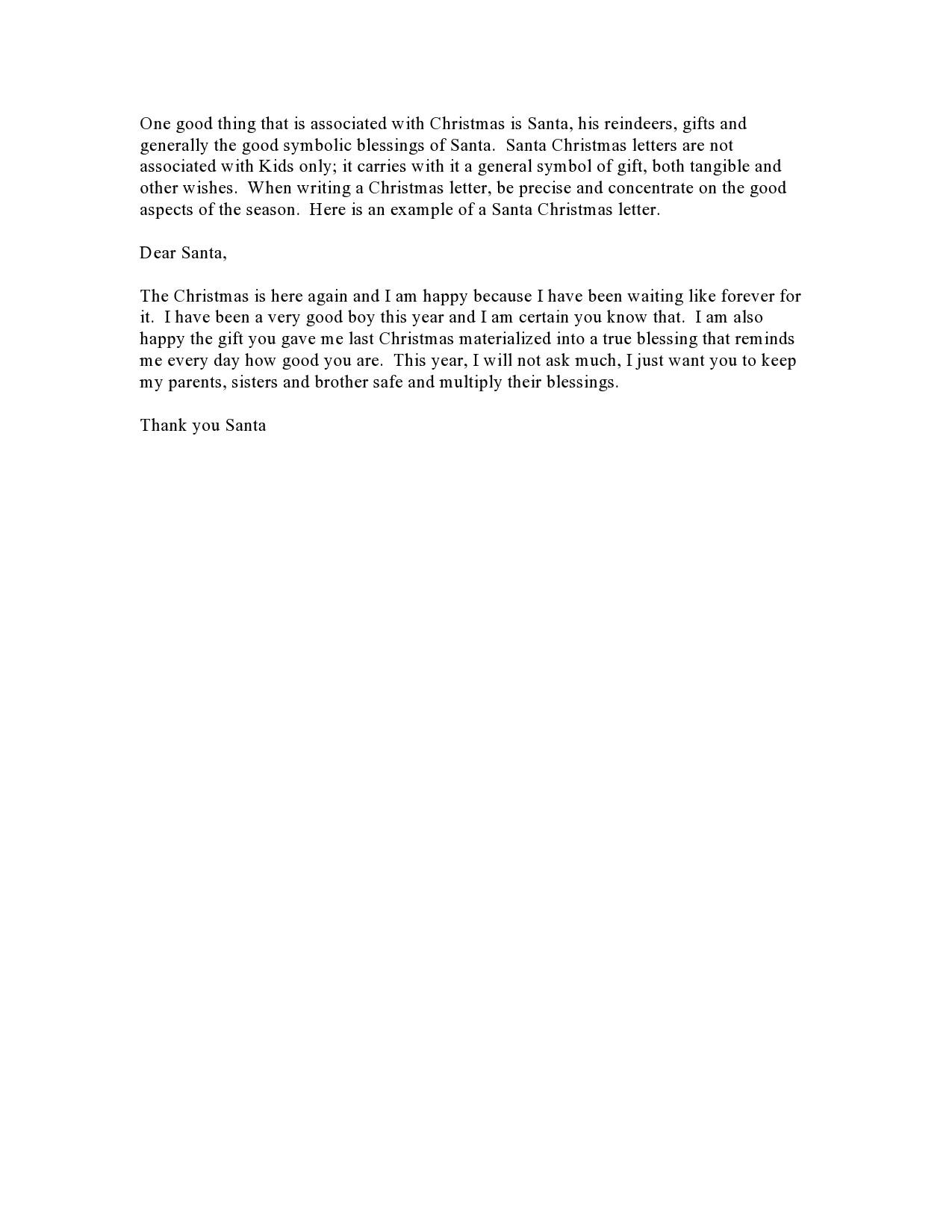 Free christmas letter template 38