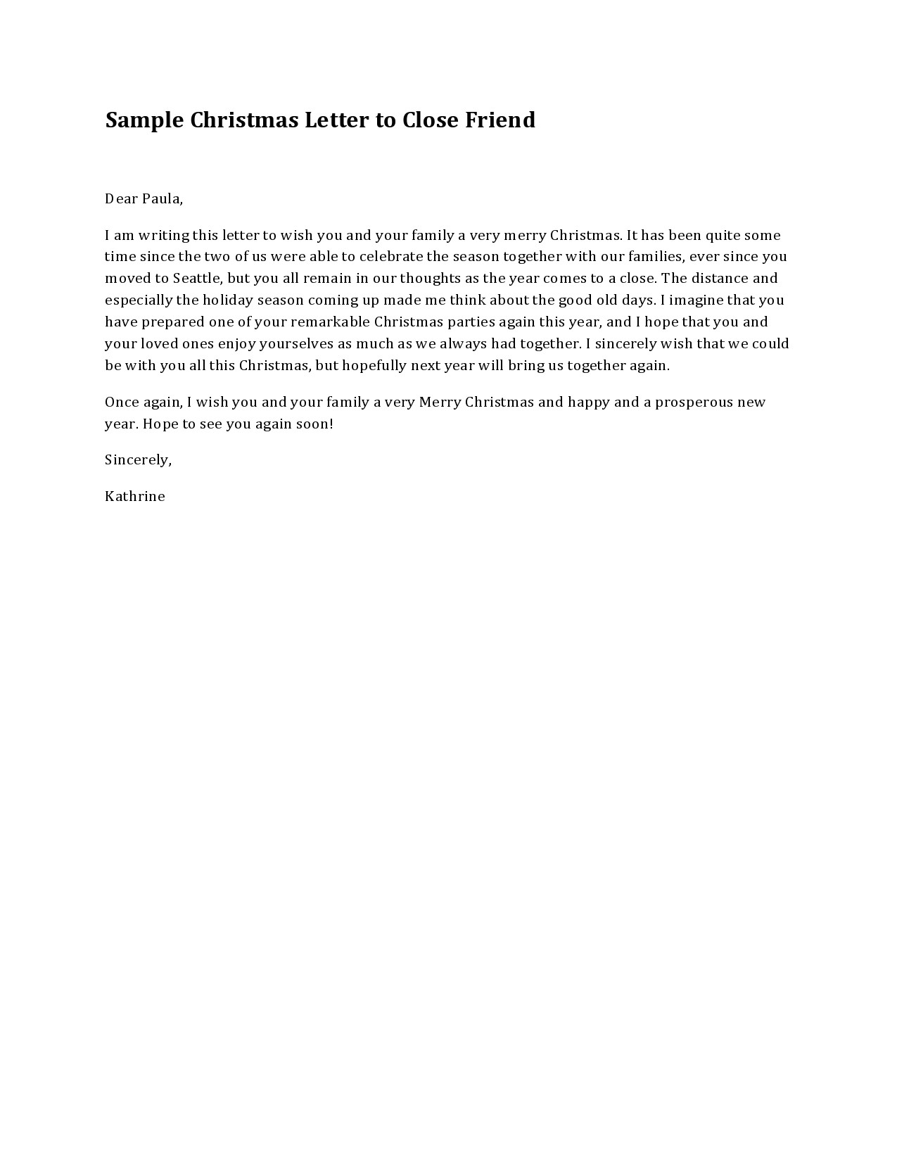 Free christmas letter template 40