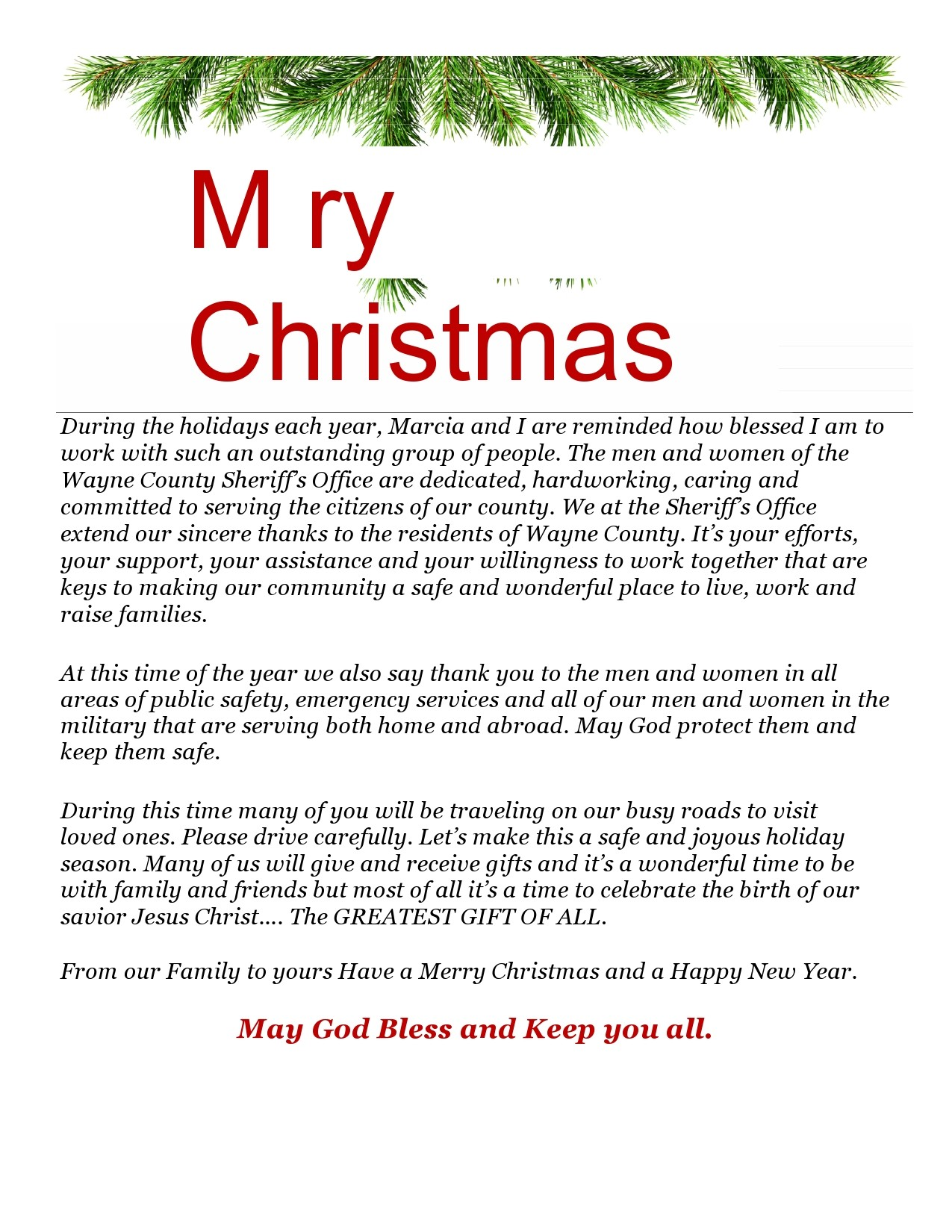 Free christmas letter template 45