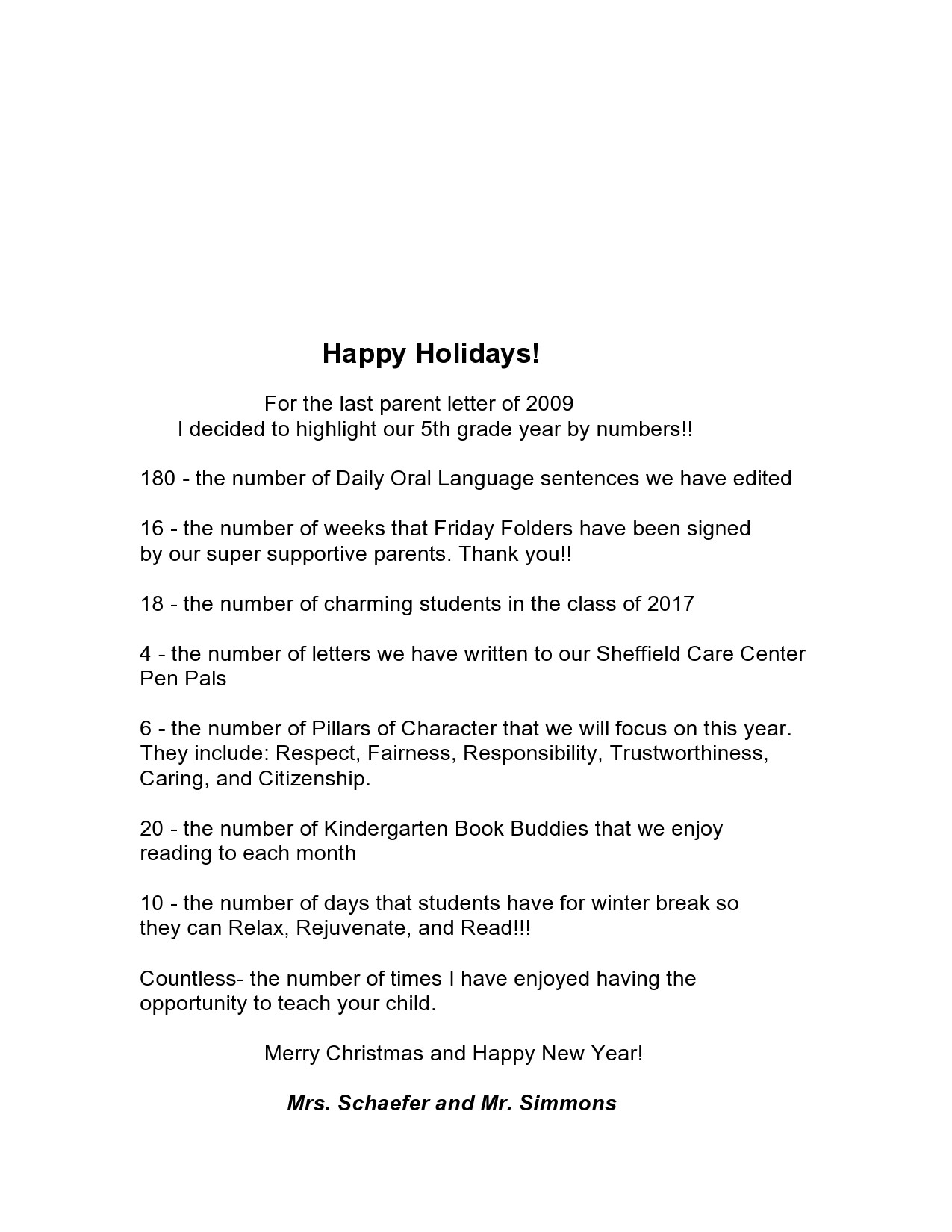 Free christmas letter template 46