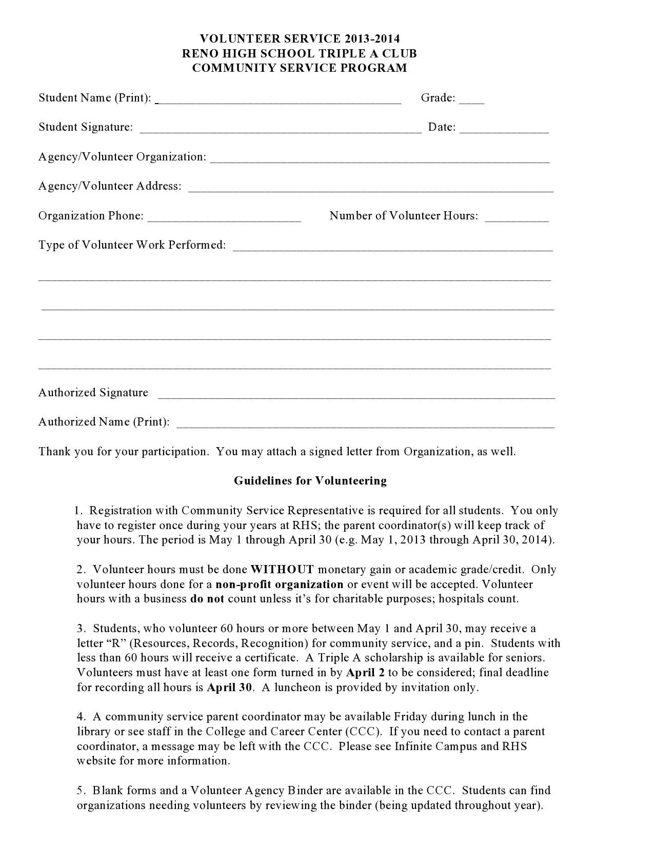 Volunteer Application Template from templatelab.com