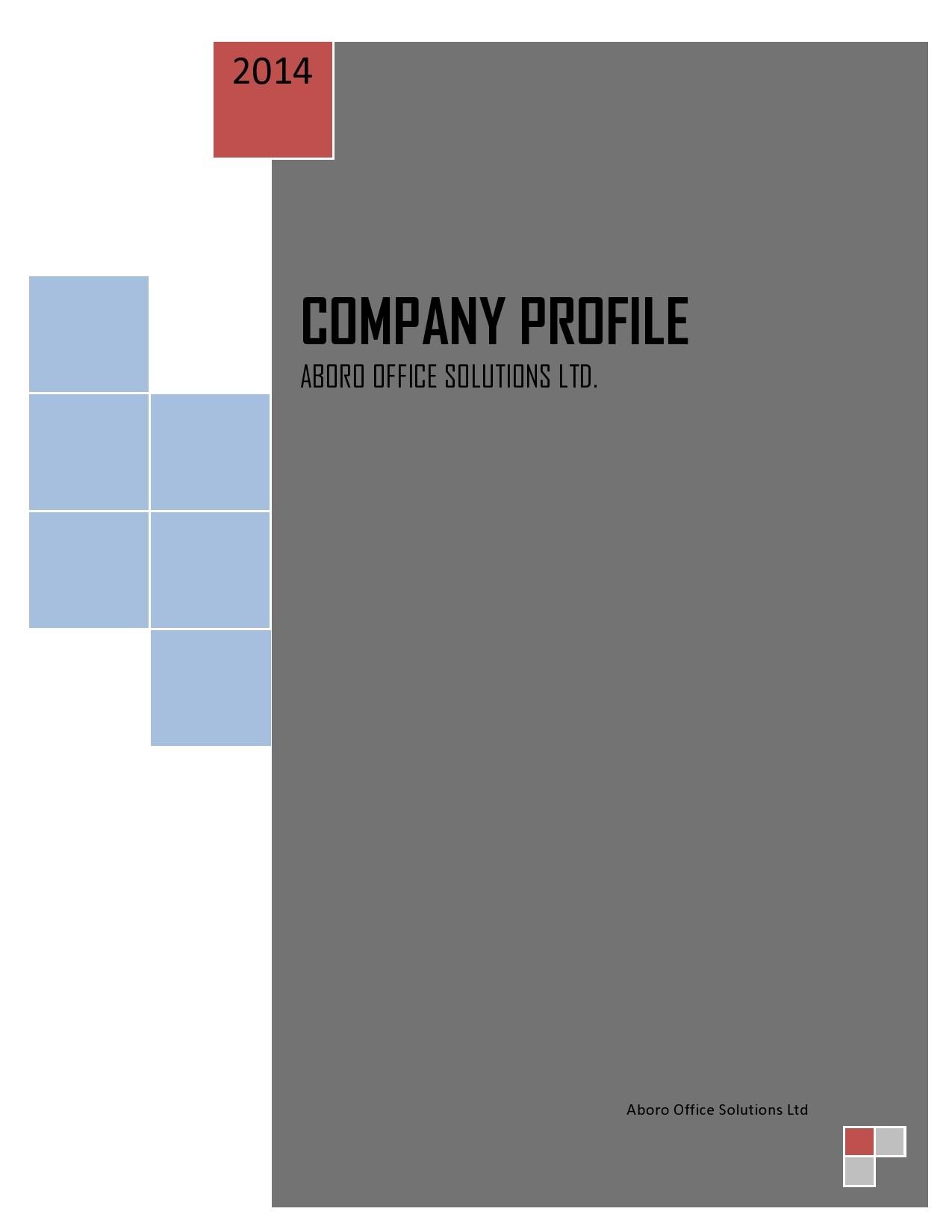 Free company profile template 06