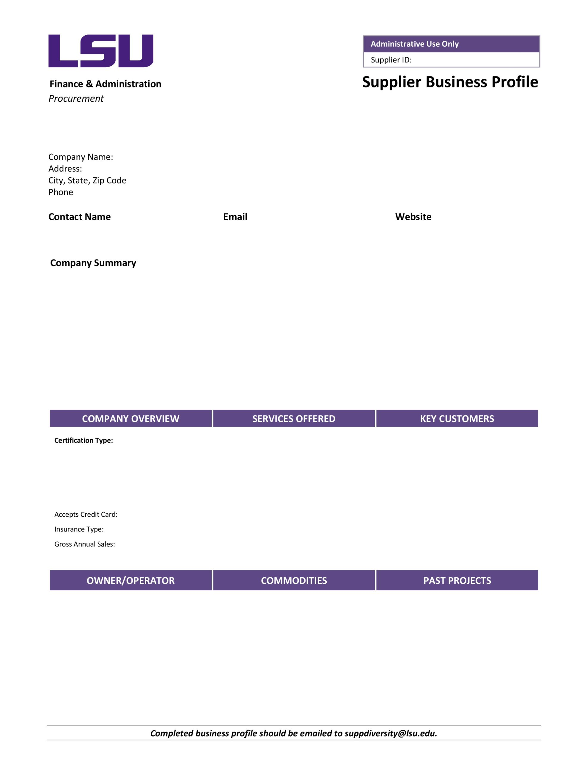 Free company profile template 11