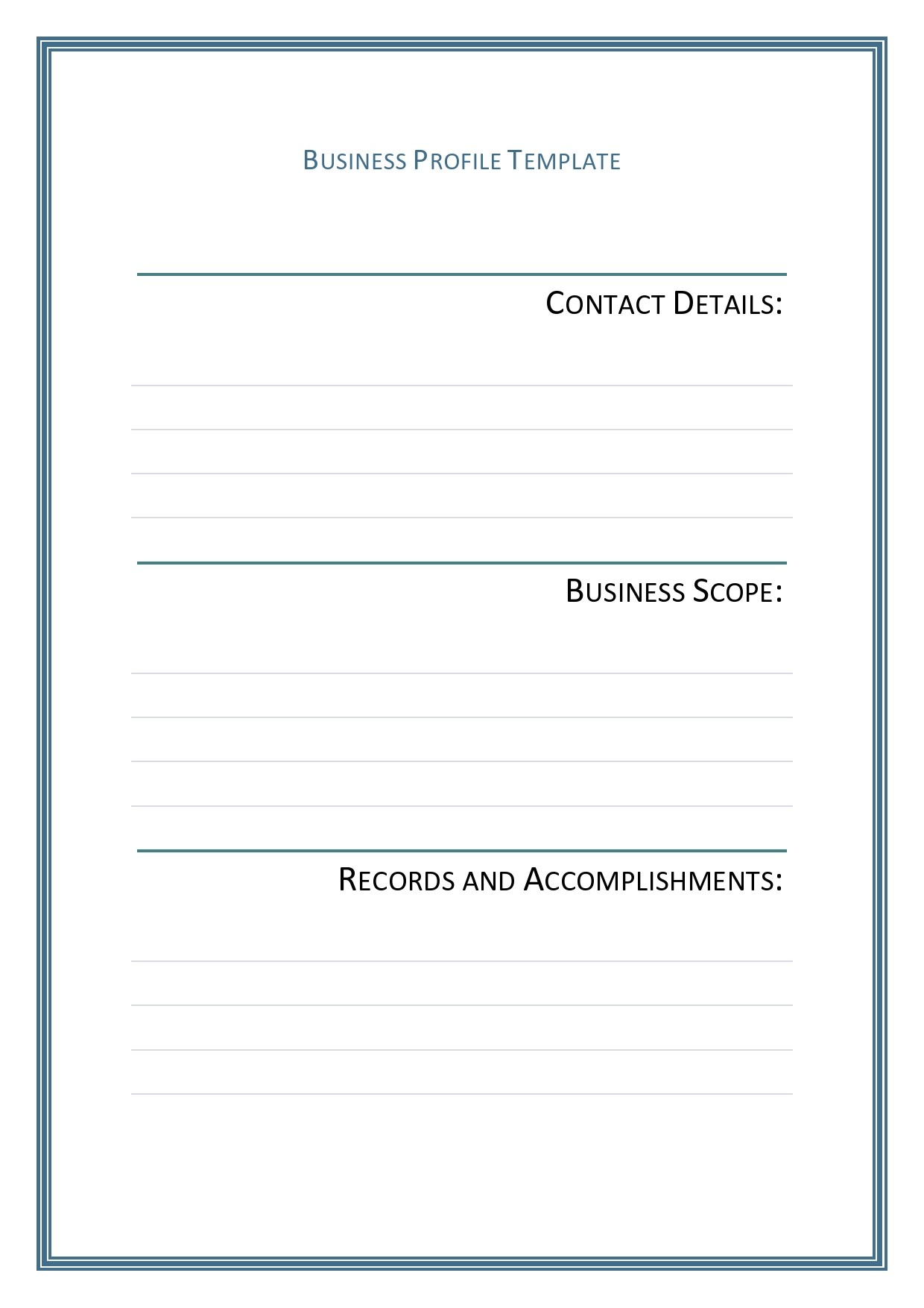 Free company profile template 12
