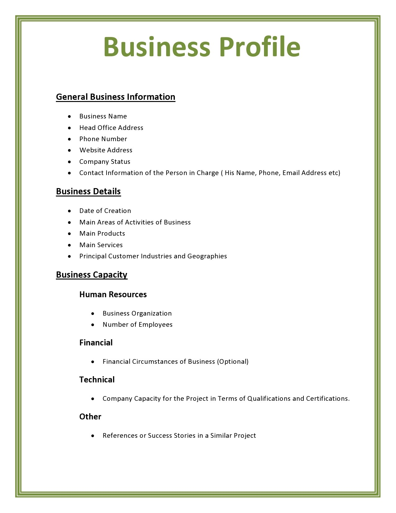 Free company profile template 13