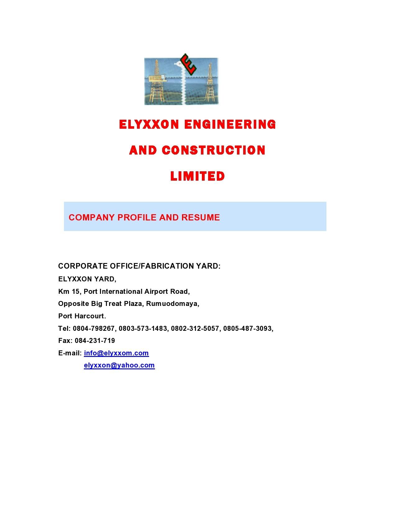Free company profile template 20