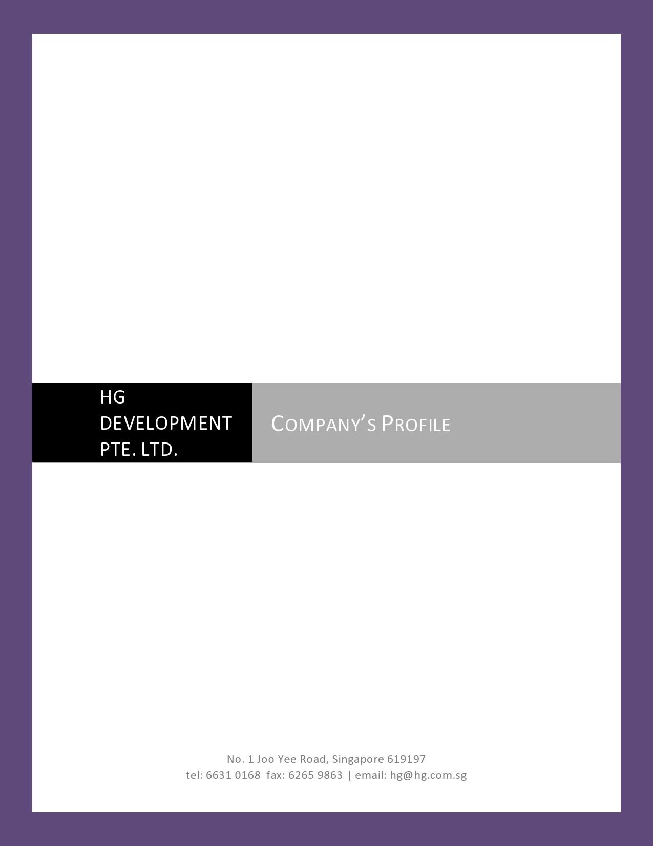 Free company profile template 22