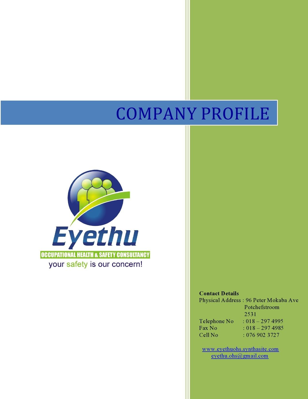 Free company profile template 23