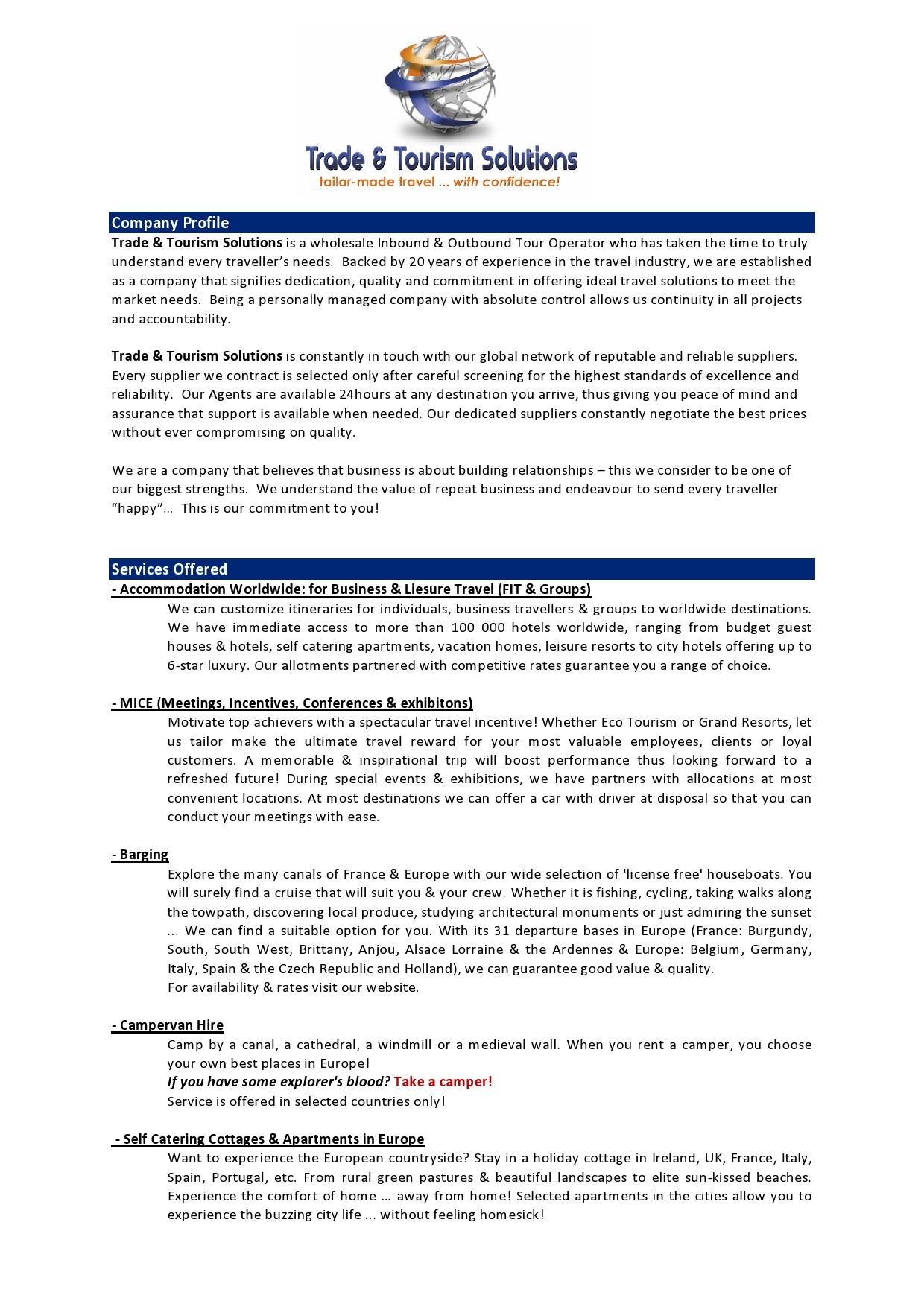 Free company profile template 27
