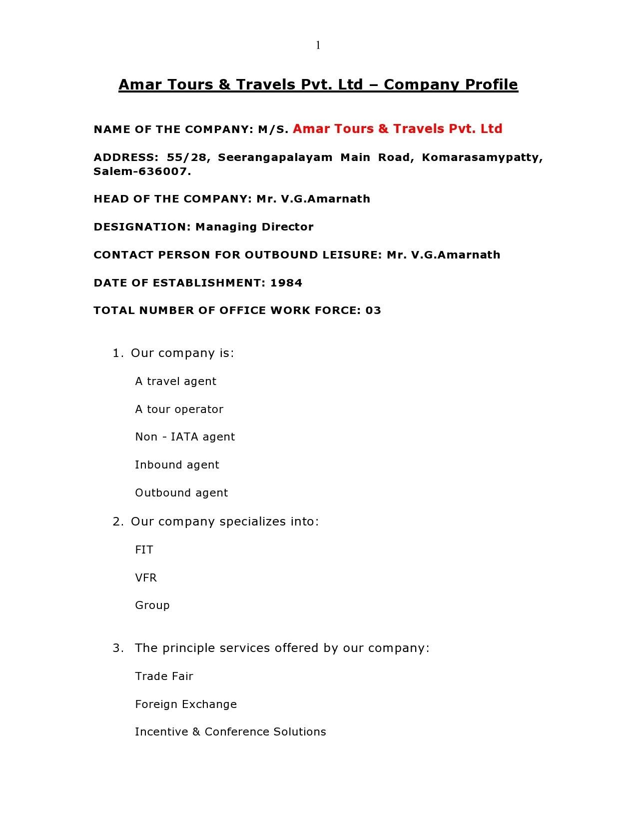 Free company profile template 28
