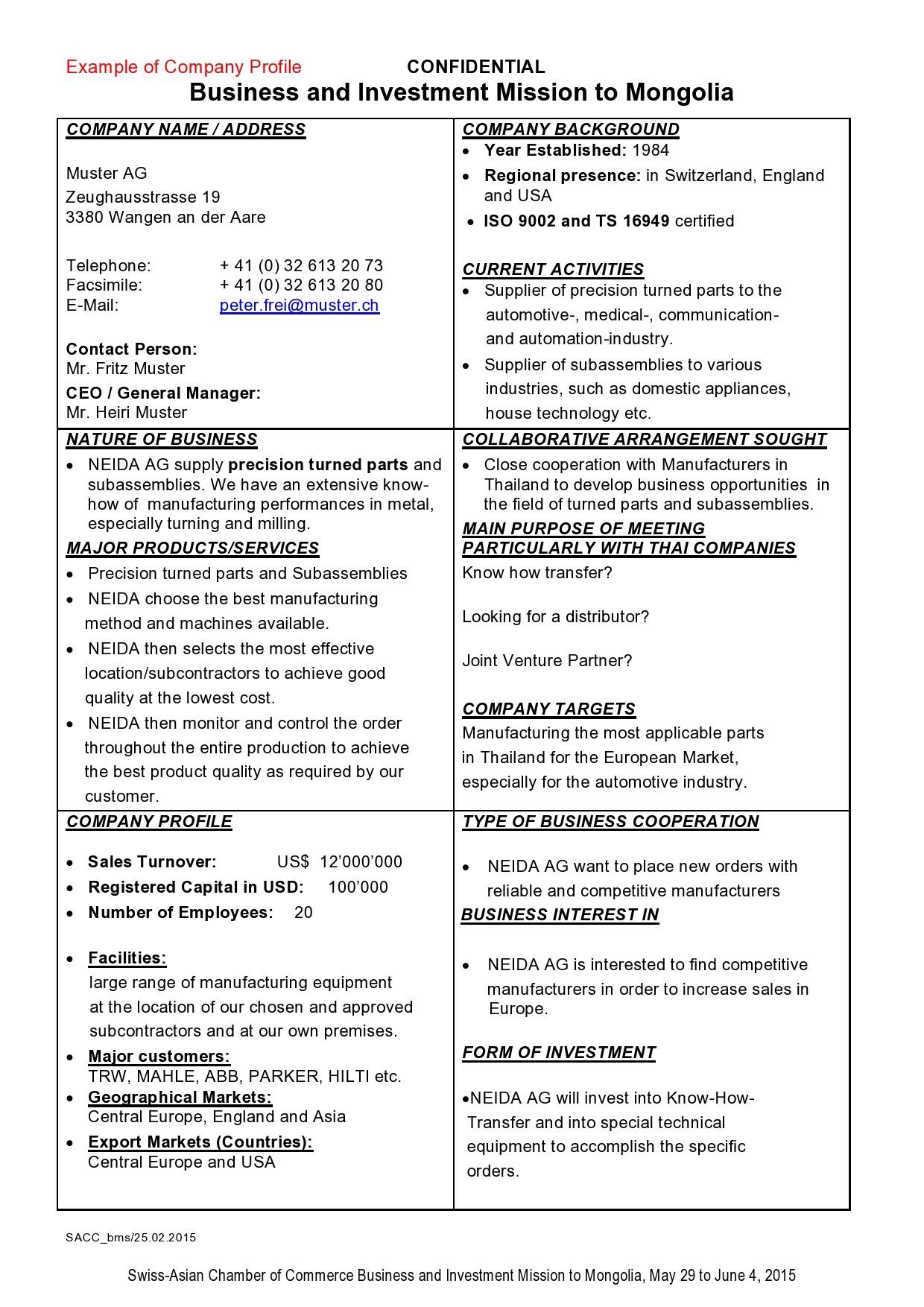 Free company profile template 44