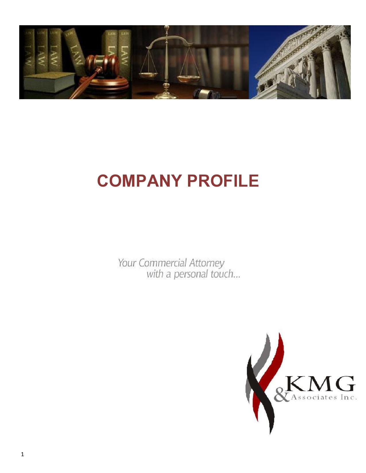 Free company profile template 46