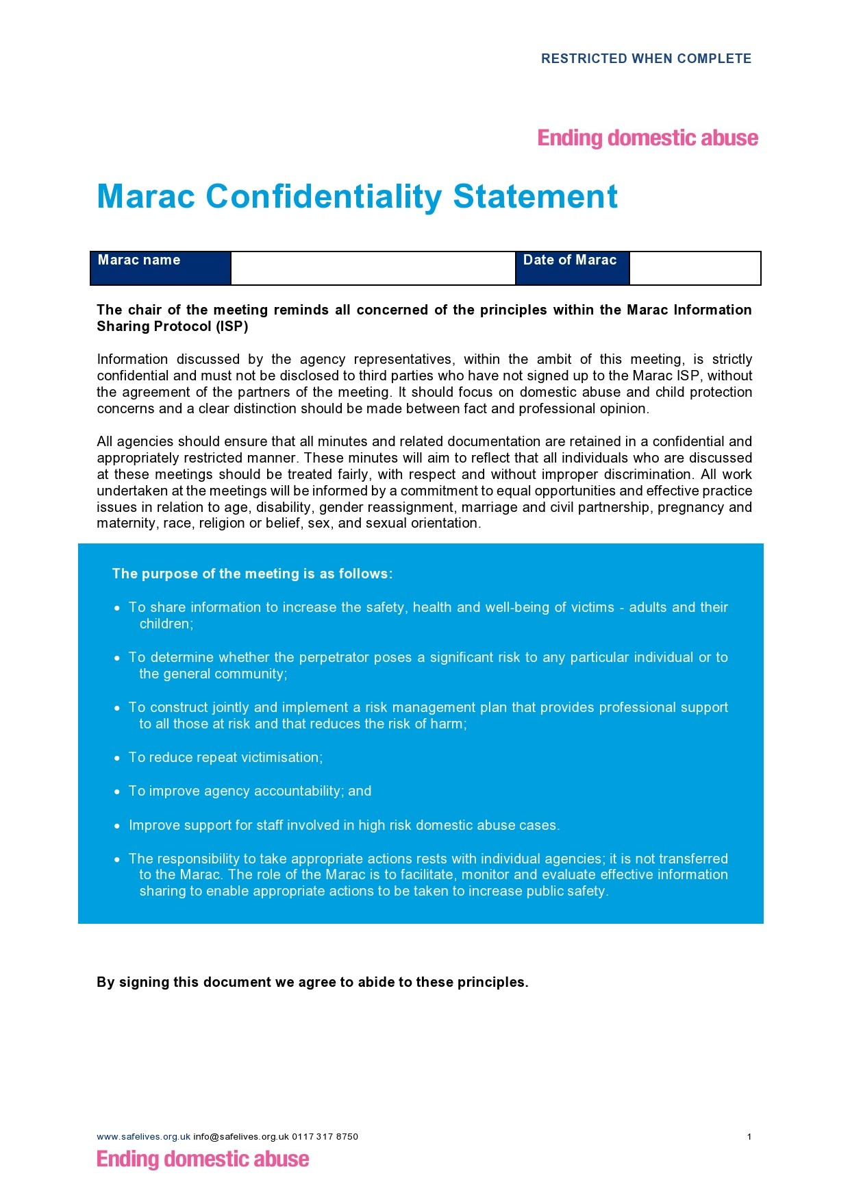 Free confidentiality statement 40