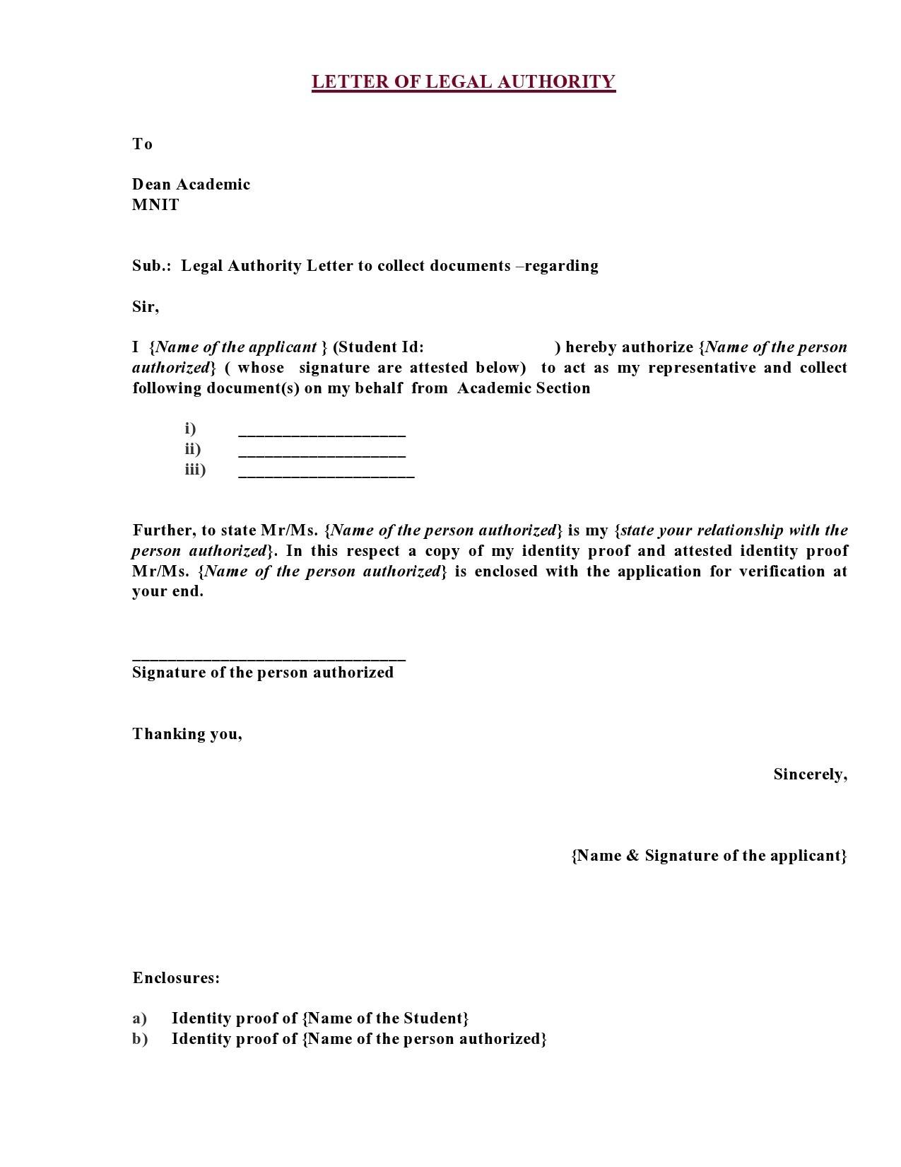 Free legal letter format 01