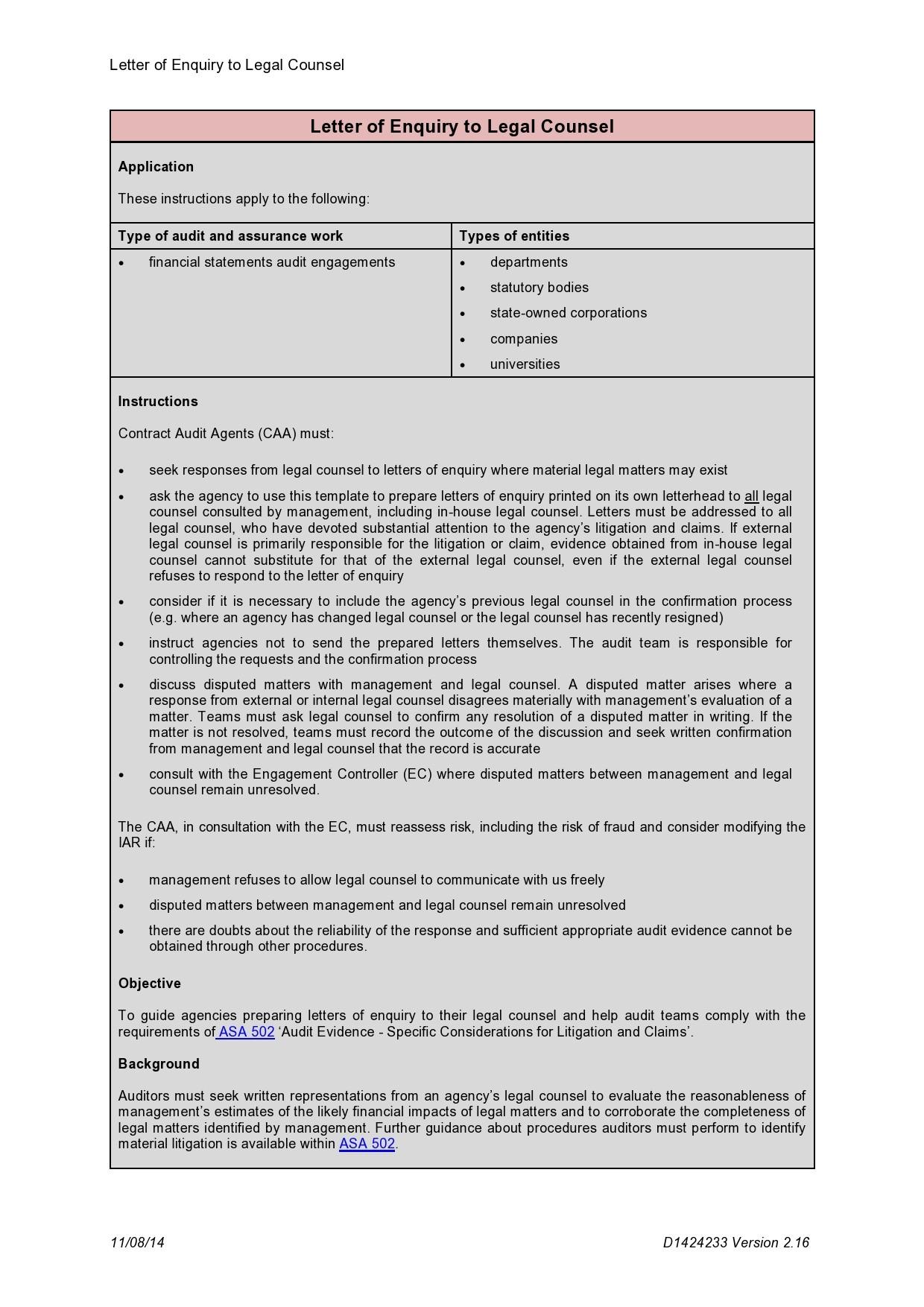 Free legal letter format 05
